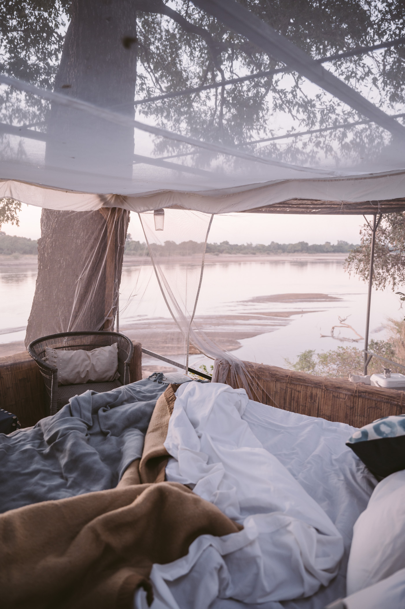 Elephant Hide star bed by Shenton Safaris in South Luangwa National Park Zambia