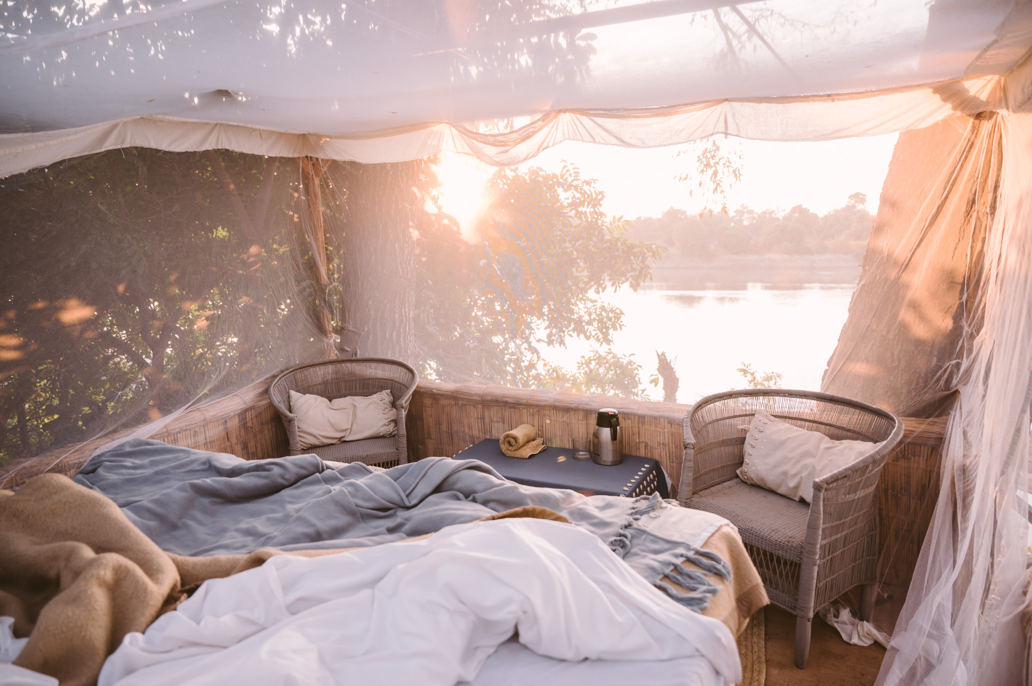 Starbed at Shenton Safaris Kaingo Camp in South Luangwa National Park Zambia