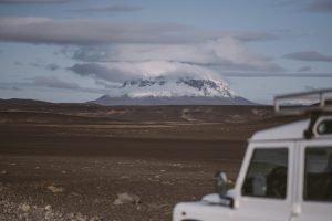 Iceland Highland Road with Landrover Defender