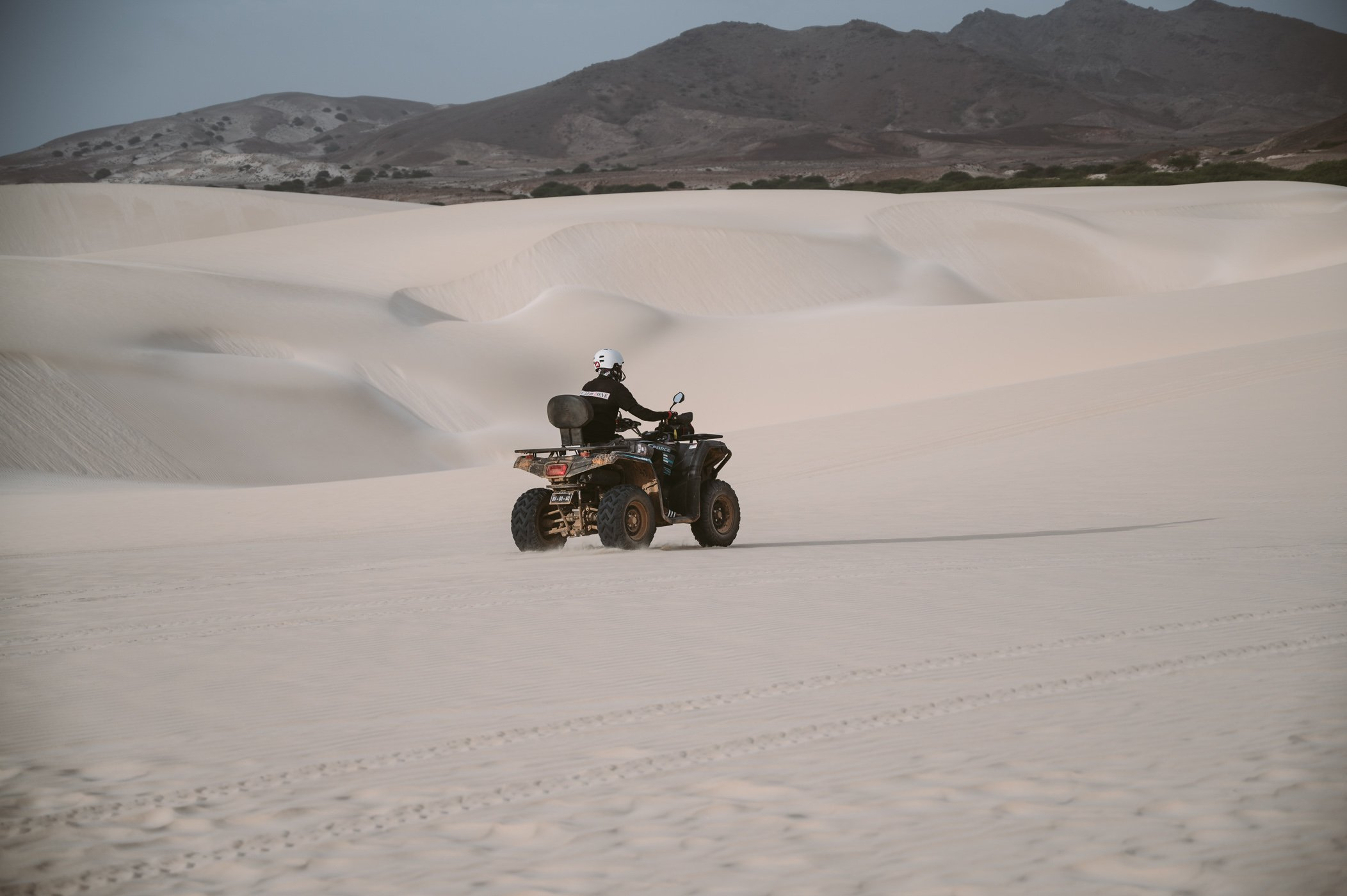 Quad guide in the Viana desert on Boa Vista Cape Verde