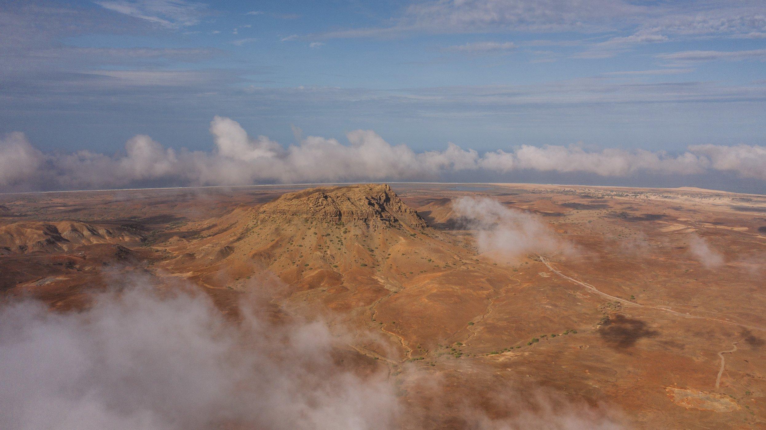 Rocha Estância mountain Boa Vista Cape Verde