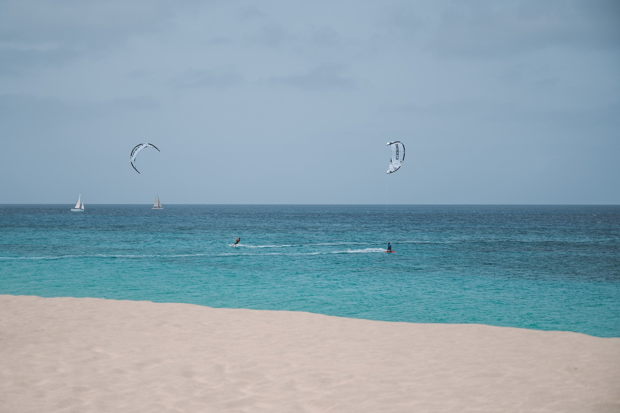 Kite Surfer at Ponta Preta on Sal Cape Verde