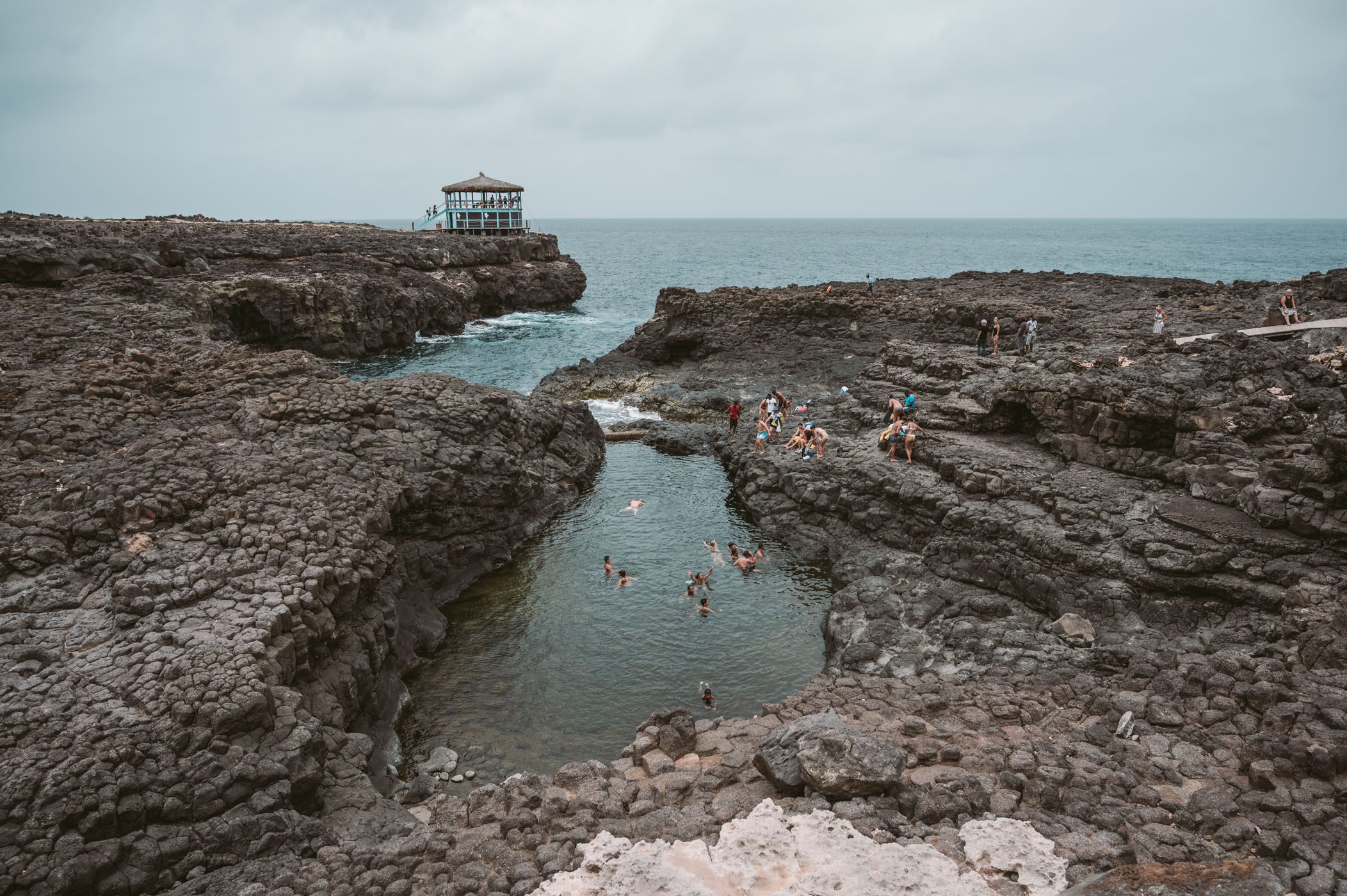 Buracona Blue Hole on Sal Cape Verde