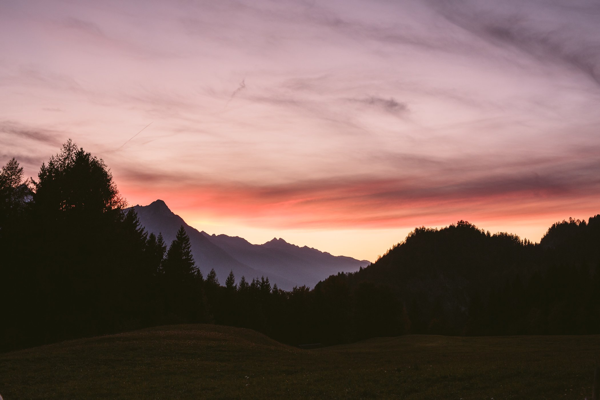 Alpine glow: Sunset in Carinthia's Slow Food Travel Region