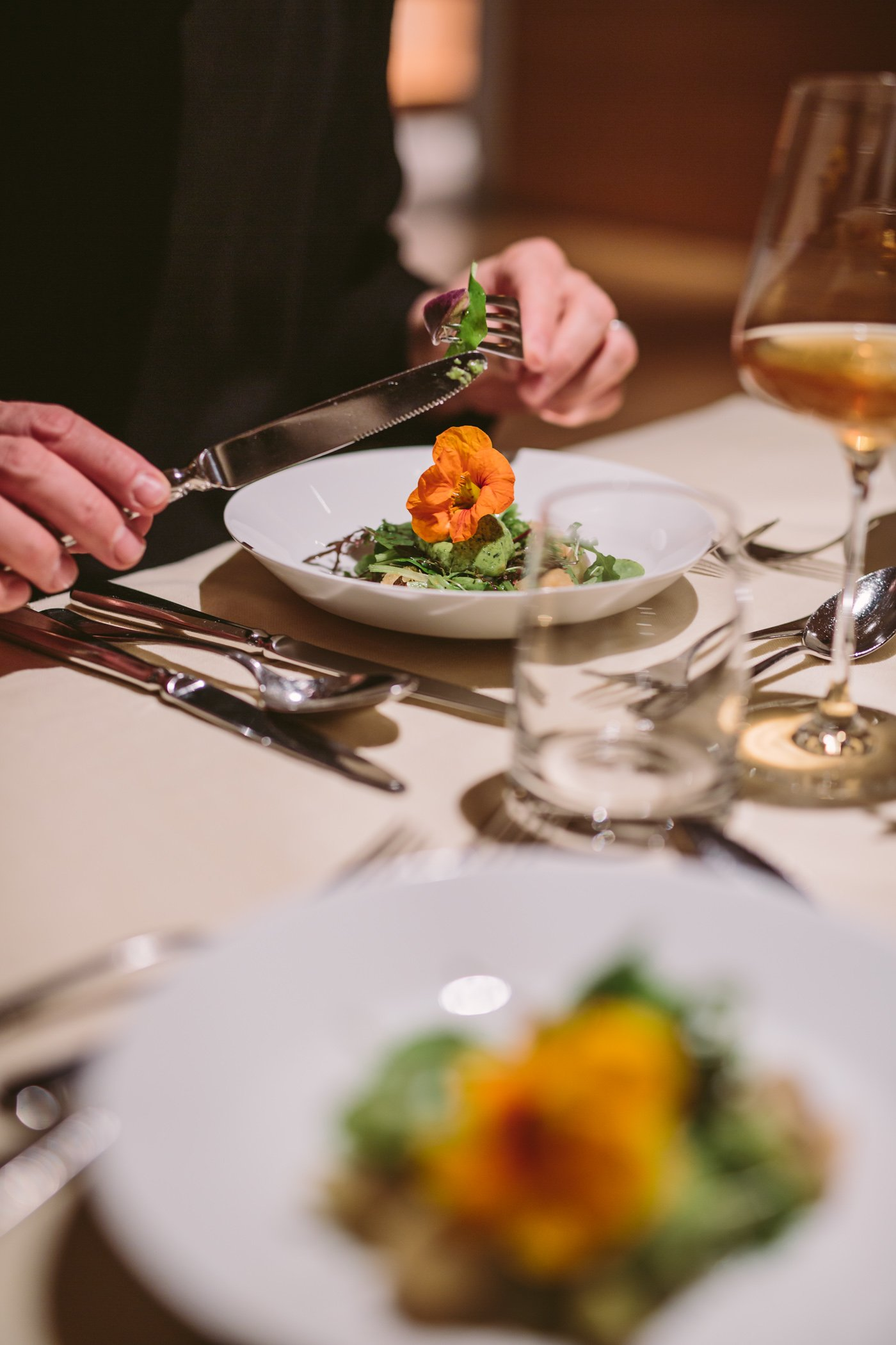 Der Daberer Biohotel vegetarian organic dinner