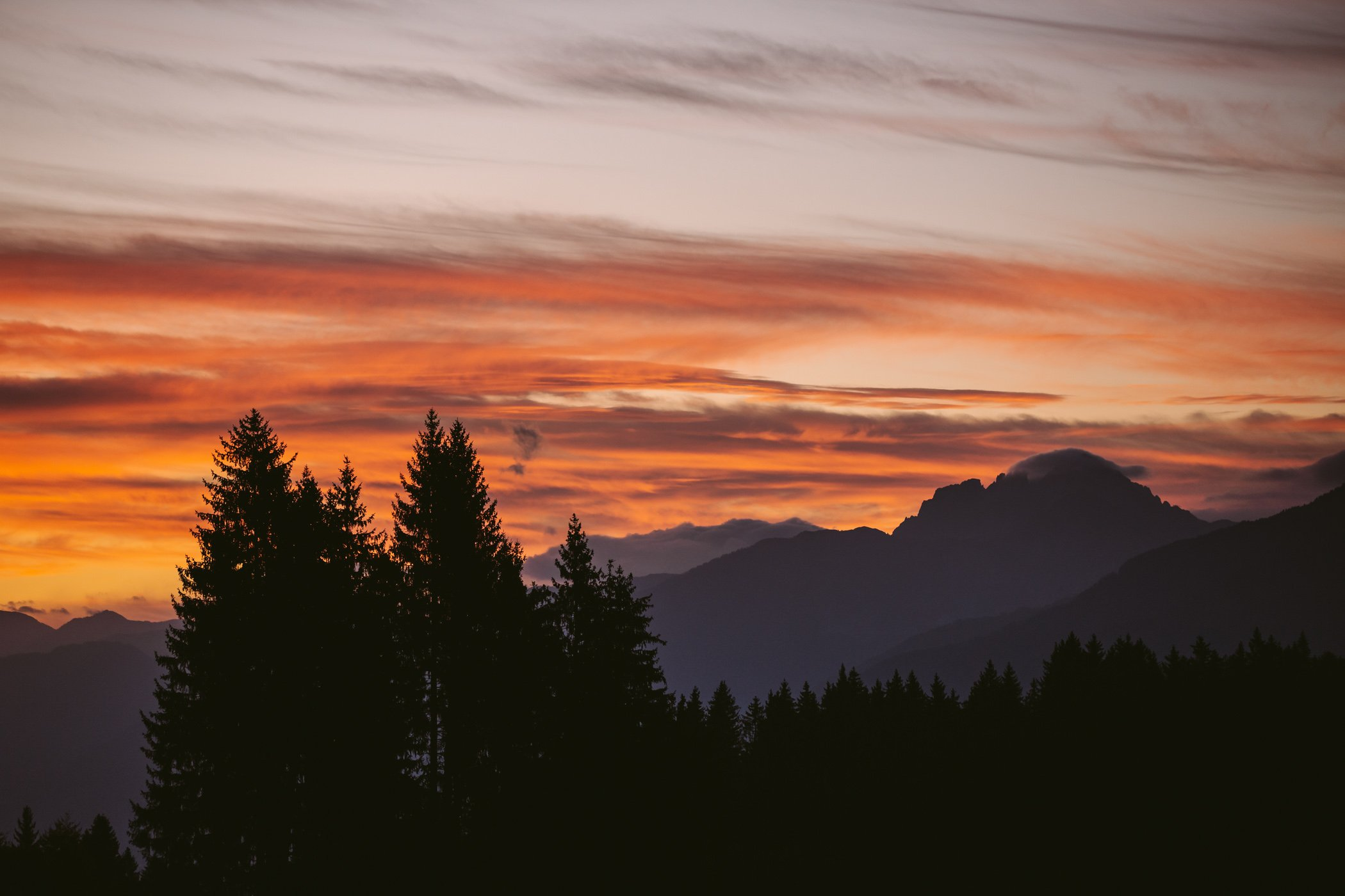 Sunset over Carinthia