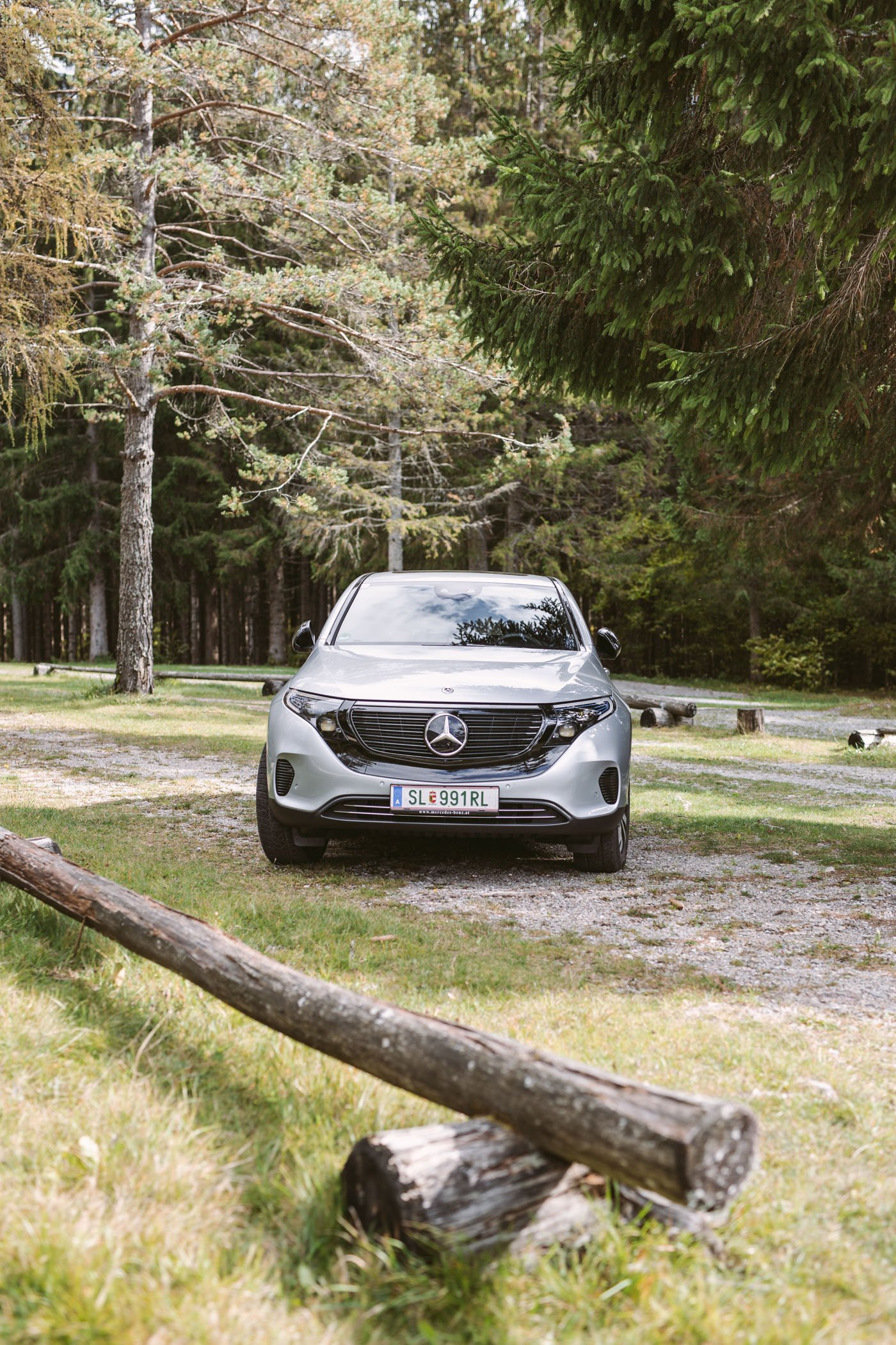 Mercedes EQC in the Austrian Alps
