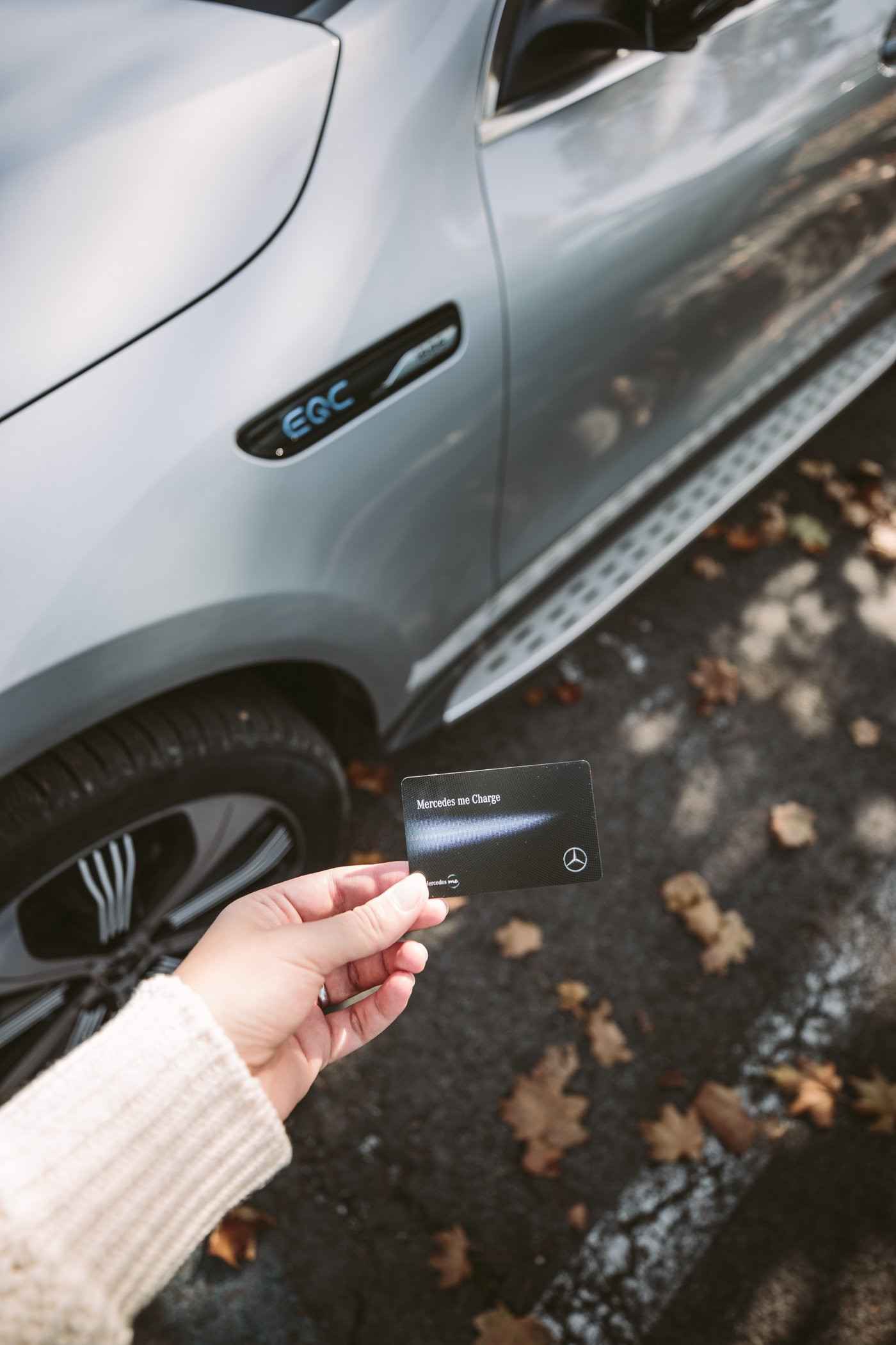 Charging the Mercedes EQC