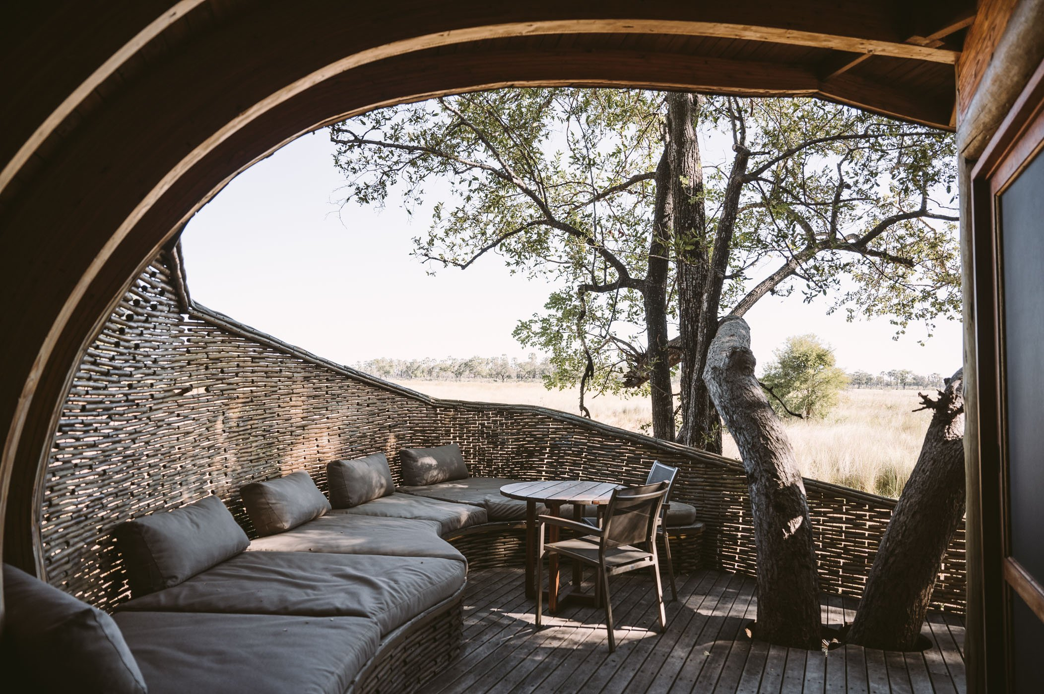 andBeyond Sandibe Okavango Delta Lodge private deck
