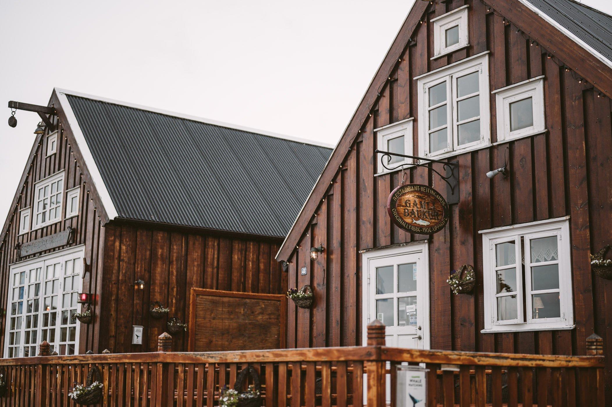Gamli Baukur restaurant Húsavík Iceland