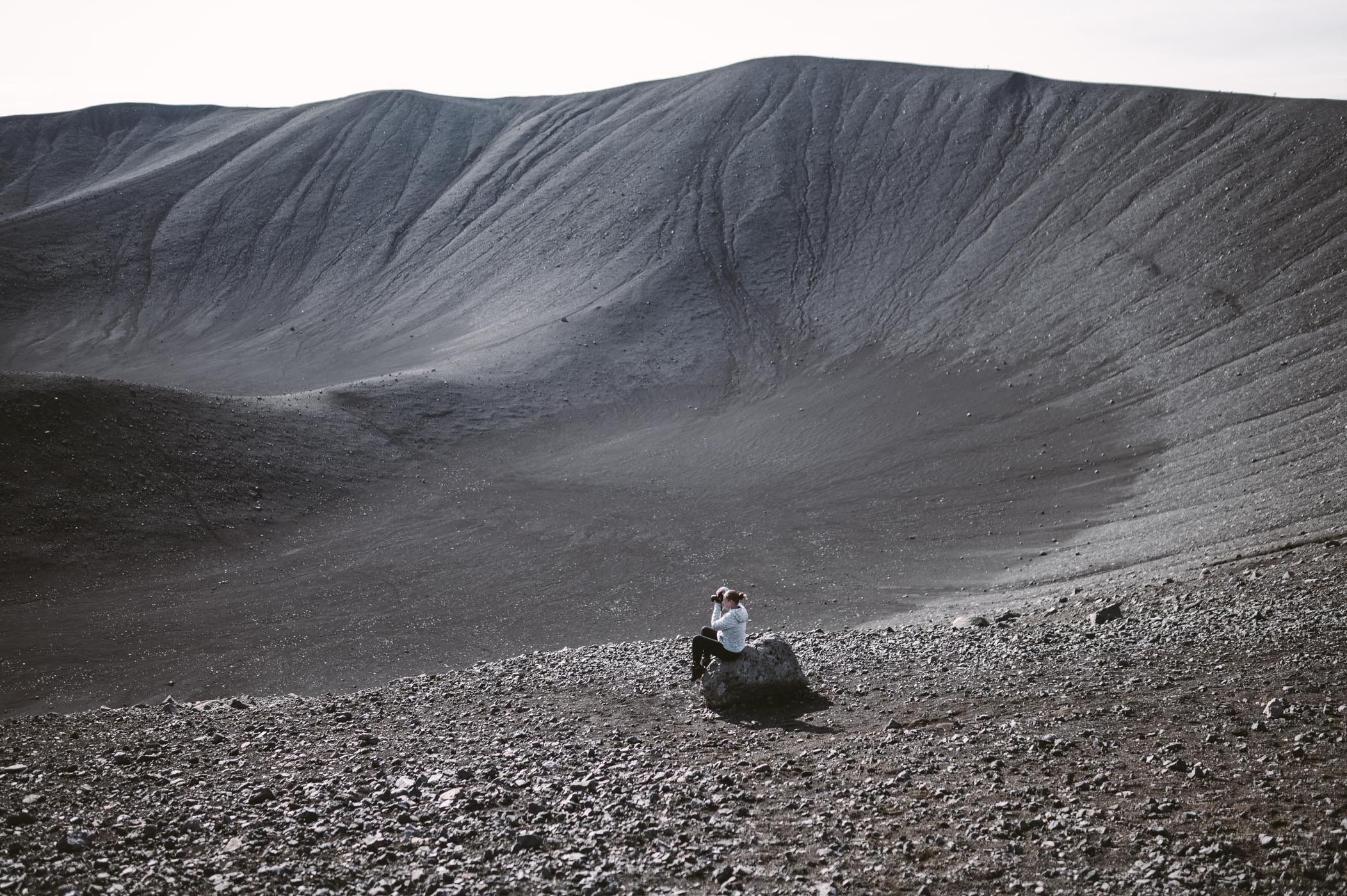 Hverfjall volcano viewpoint
