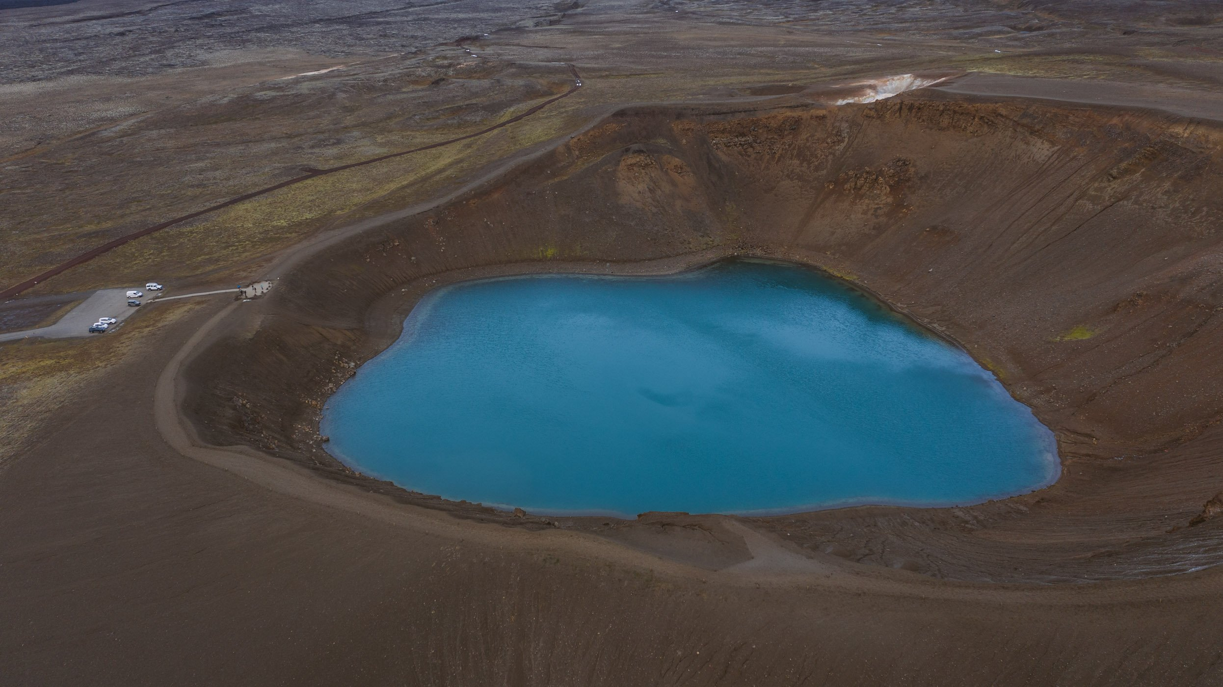 Krafla crater in Iceland