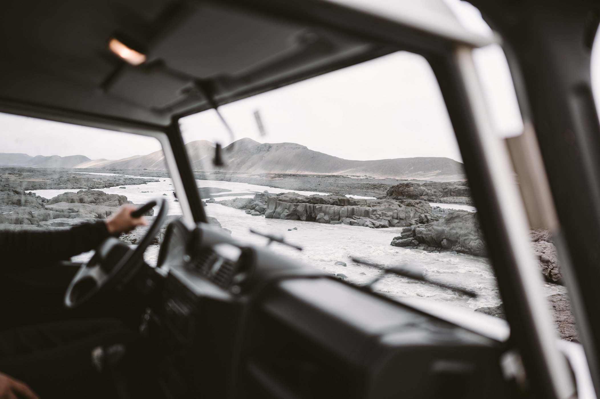 Interior of Landrover Defender