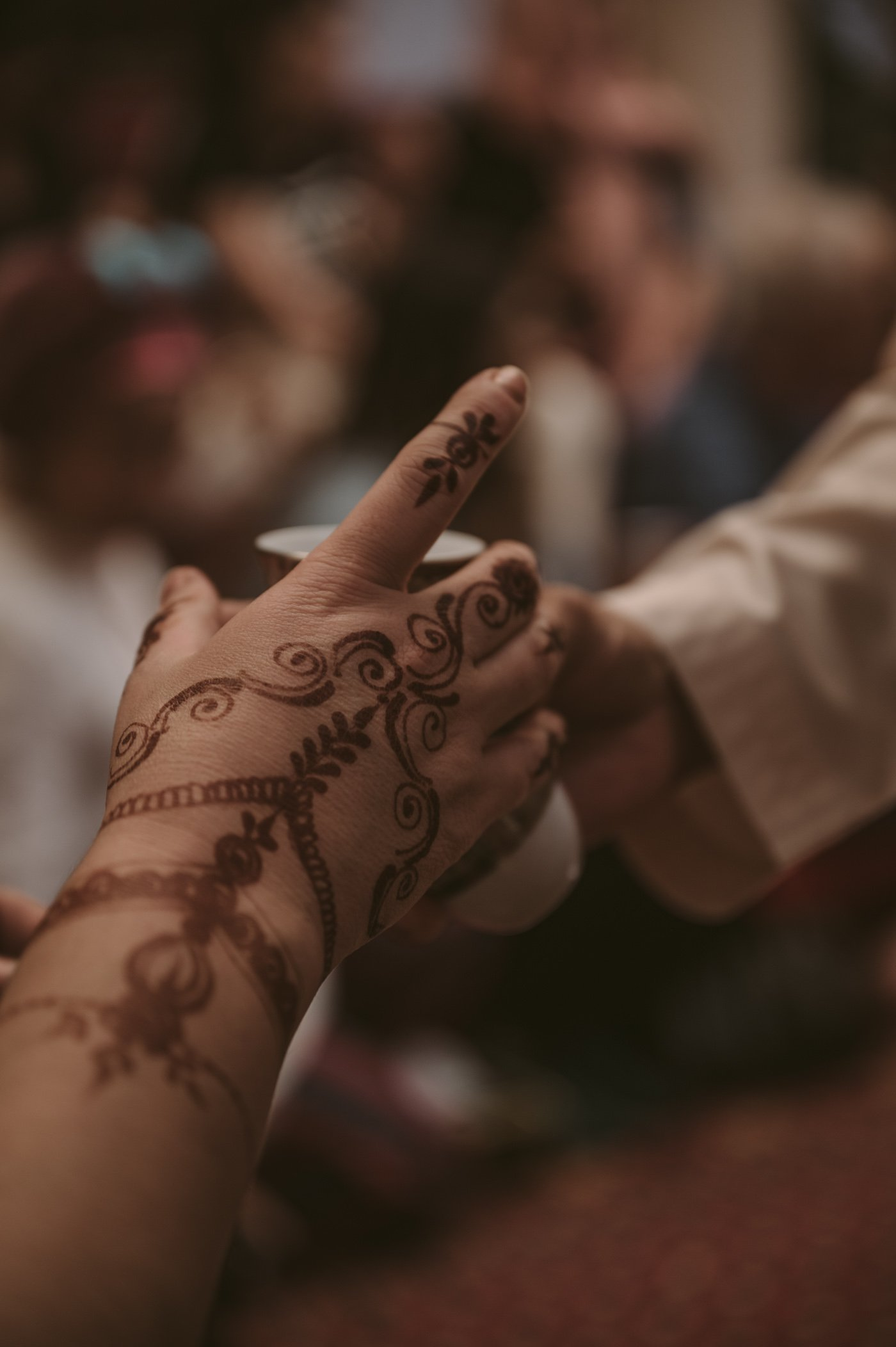 A woman with Henna tattoo at SMCCU Dubai