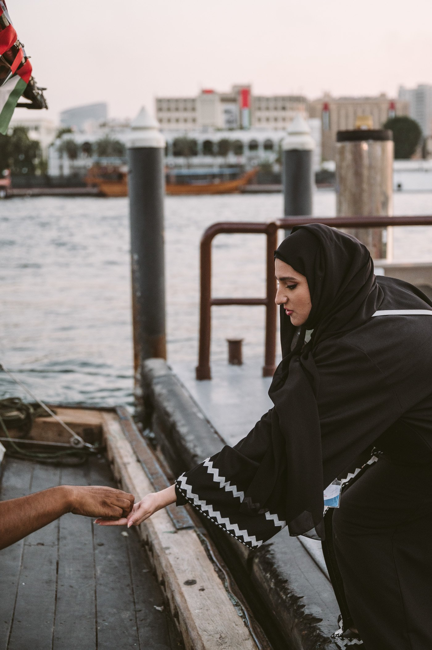 Heba bin Redha from Emirati Kashtas at the Dubai Creek