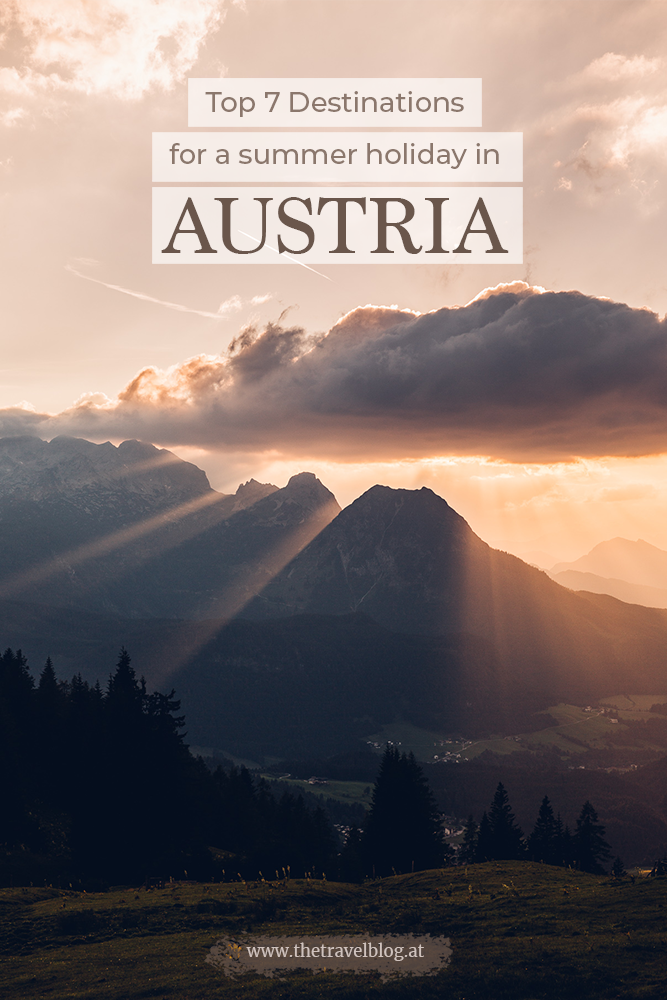 Top 7 destinations for a summer holiday in Austria