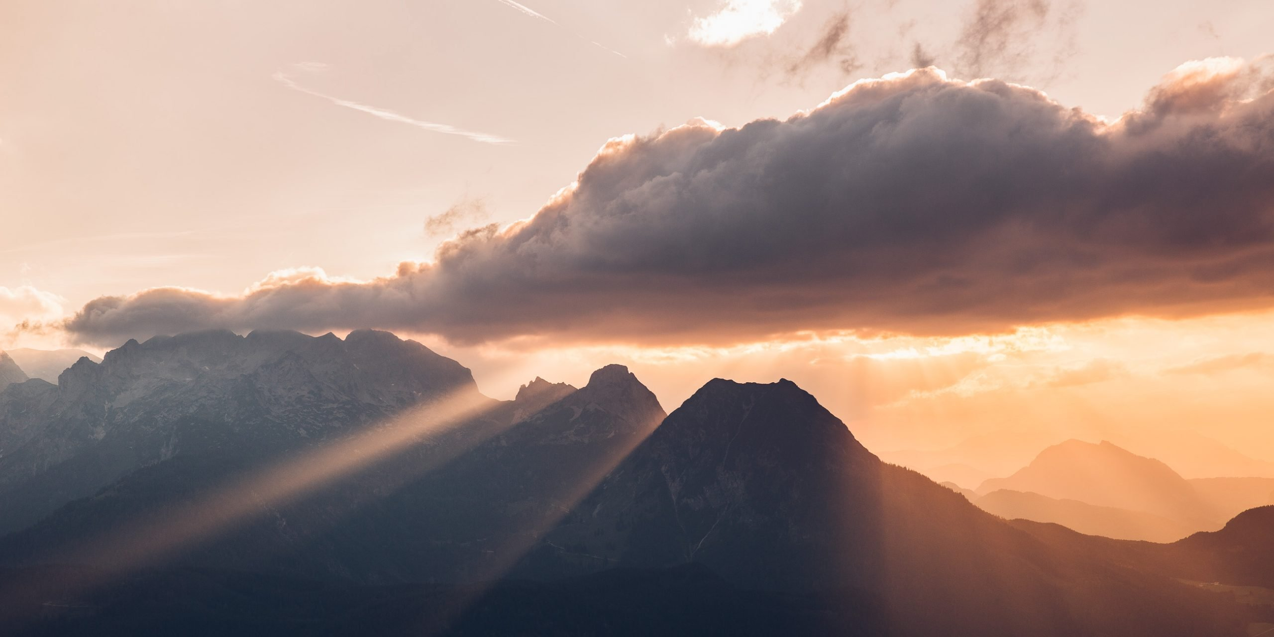 Sunset in the Dachstein mountain range