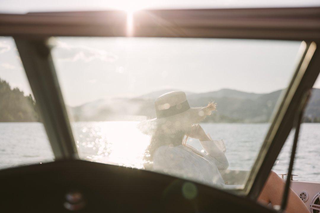 Boating at lake Wörthersee Carinthia
