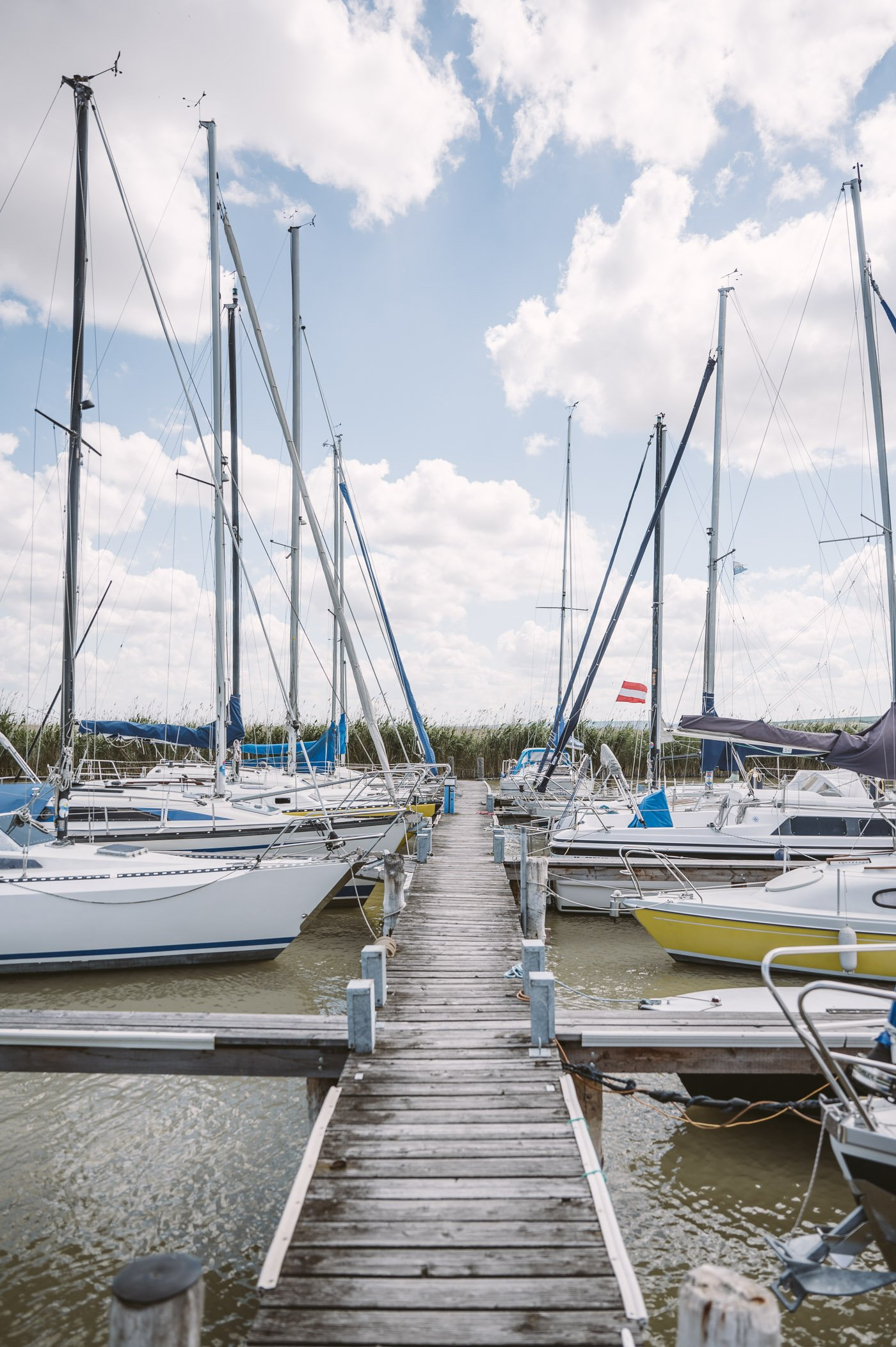 Yacht harbor in Rust at lake Neusiedlersee