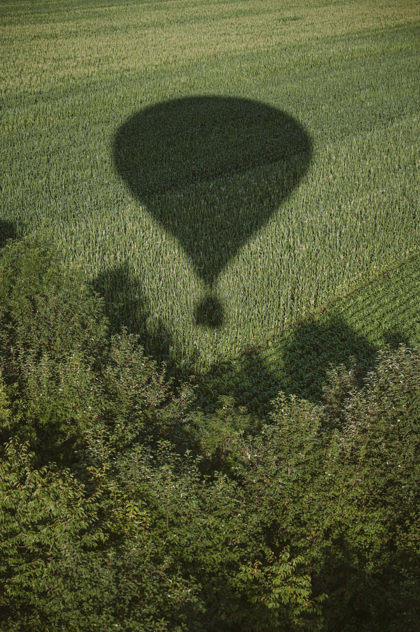 Hot air balloon ride over Southern Styria