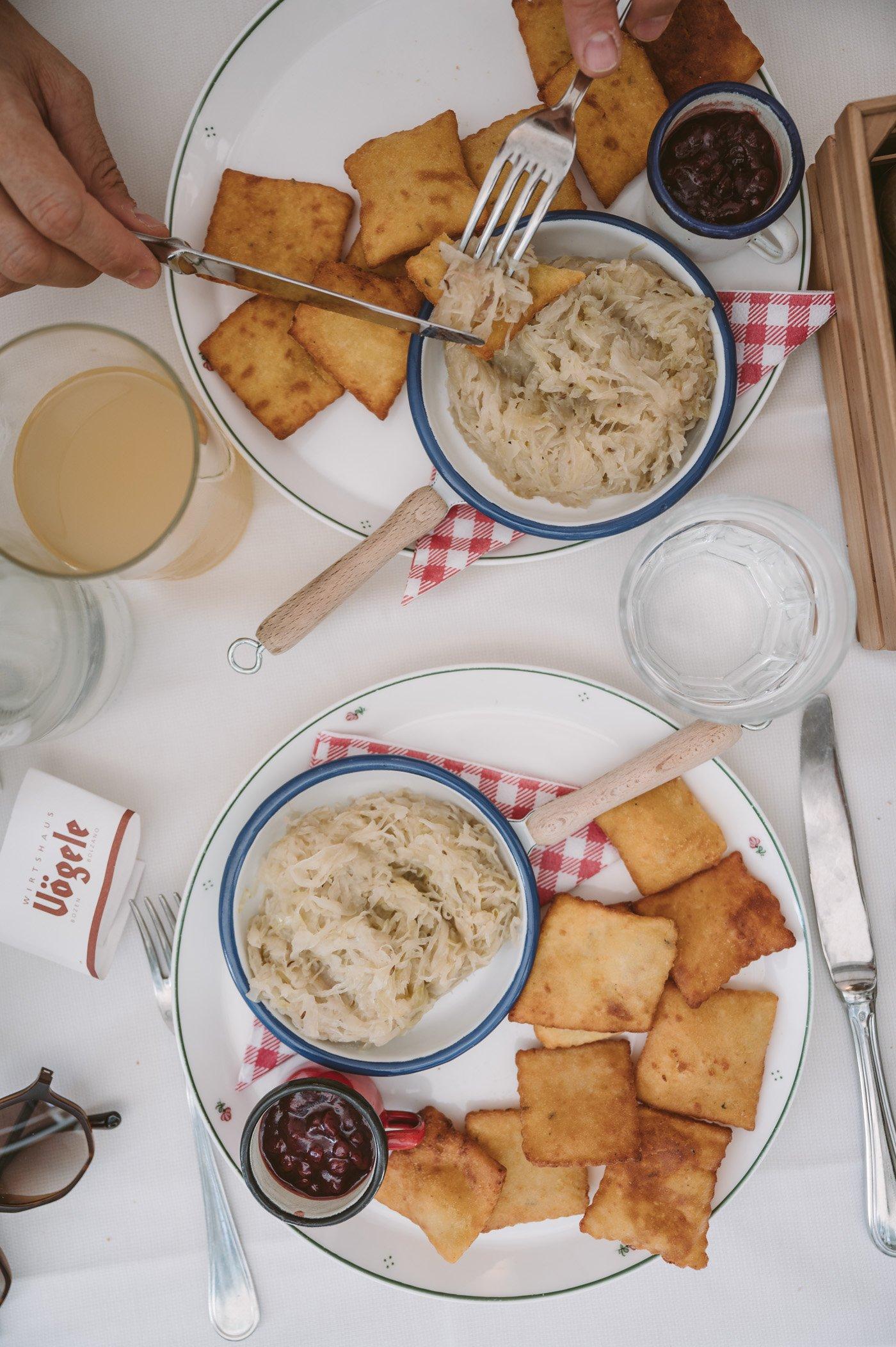Kartoffelblattln at Restaurant Vögele in Bolzano