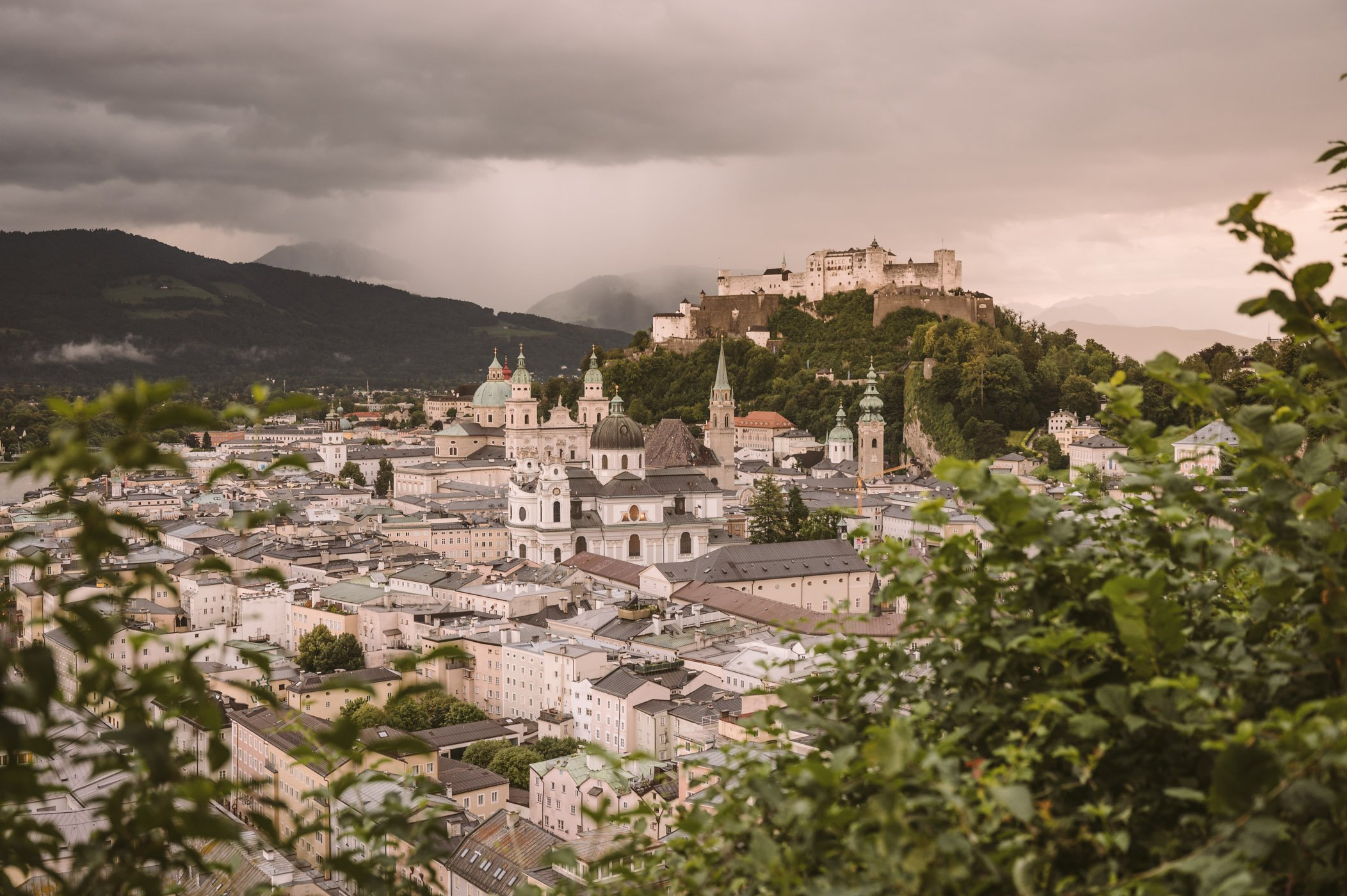 View of Salzburg from Museum of modern Art