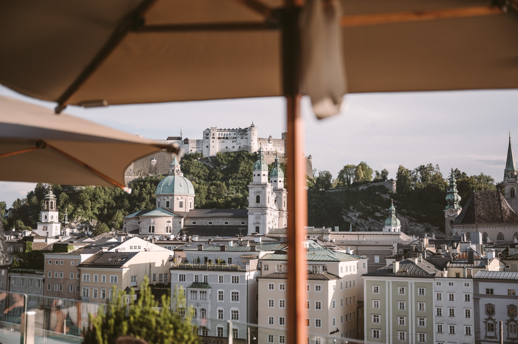 Salzburg city trip - views from Steinterrasse