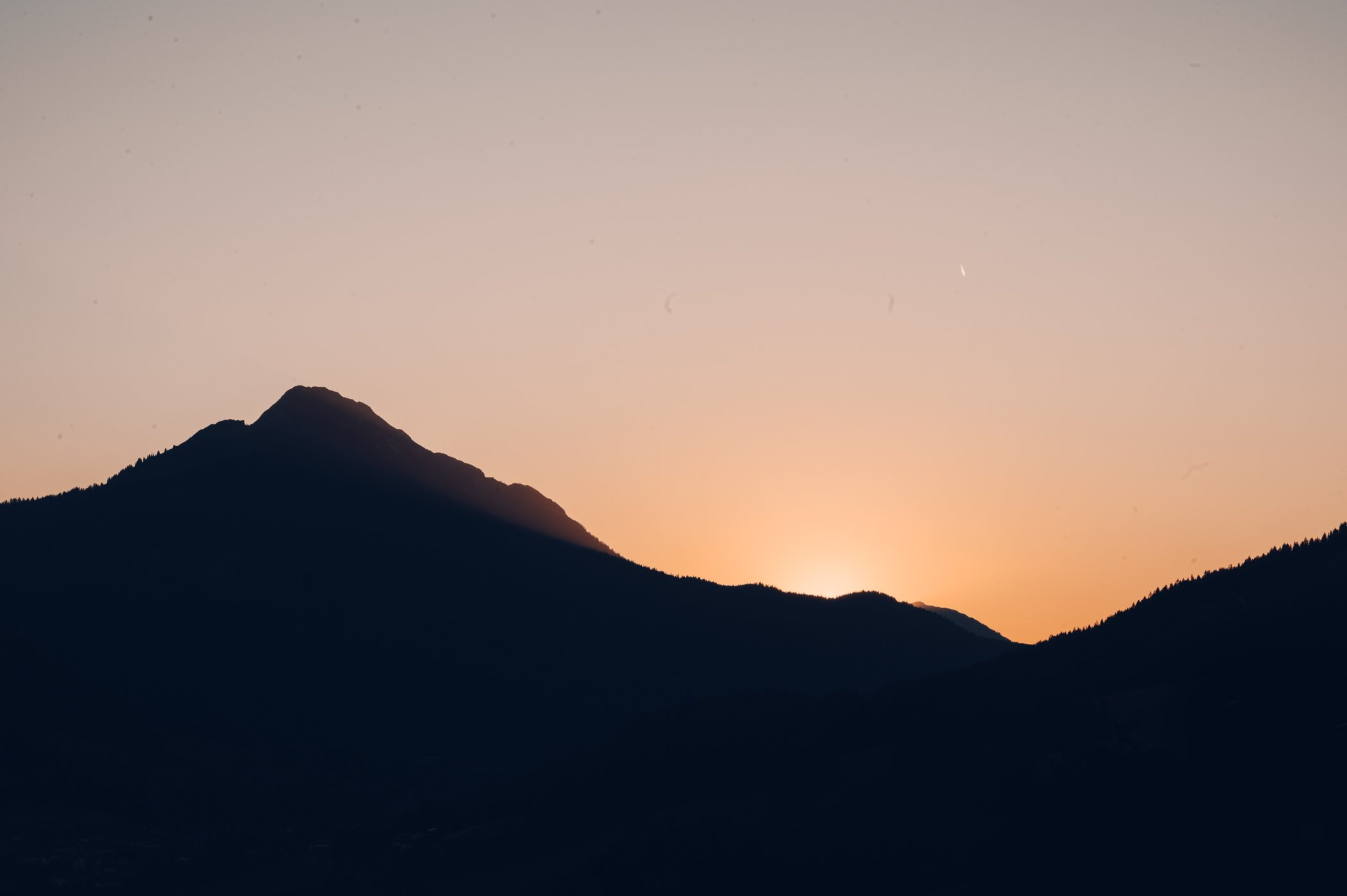 Sunset in Leogang