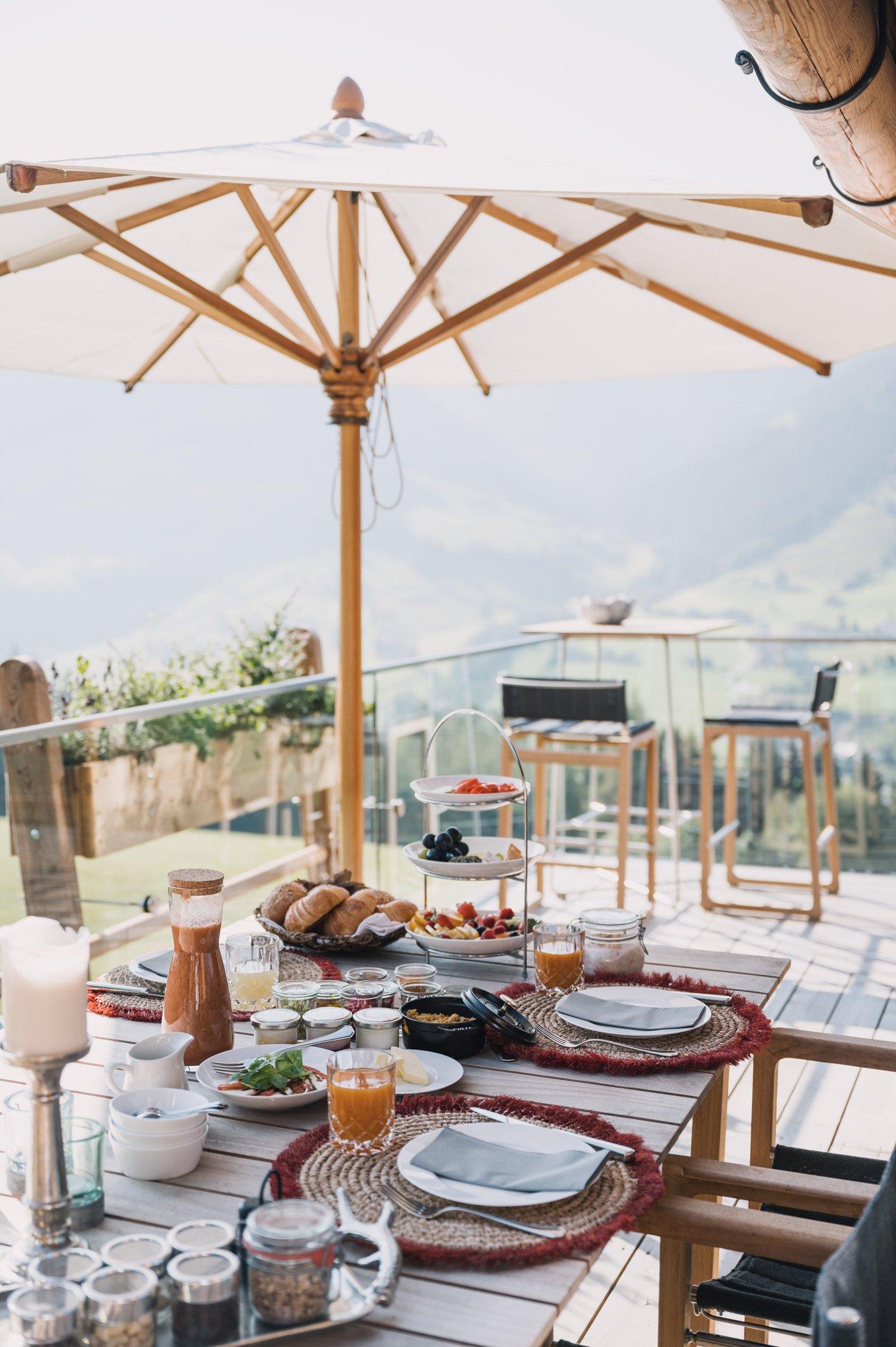 Breakfast at Senhoog luxury holiday homes & chalets in Leogang Salzburg Austria