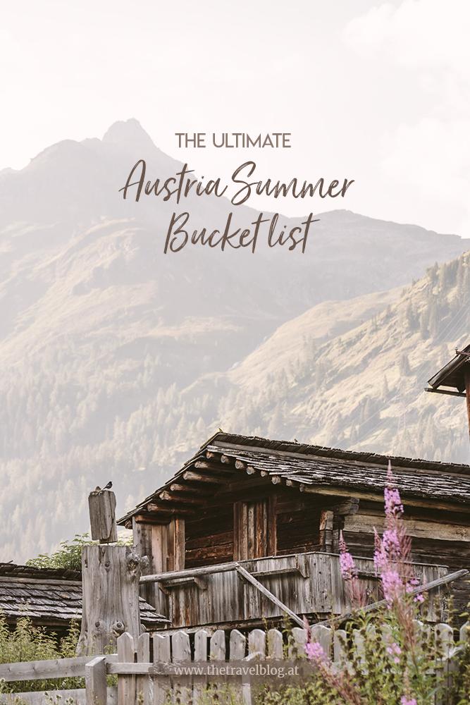 Austria Summer Bucket List 2021