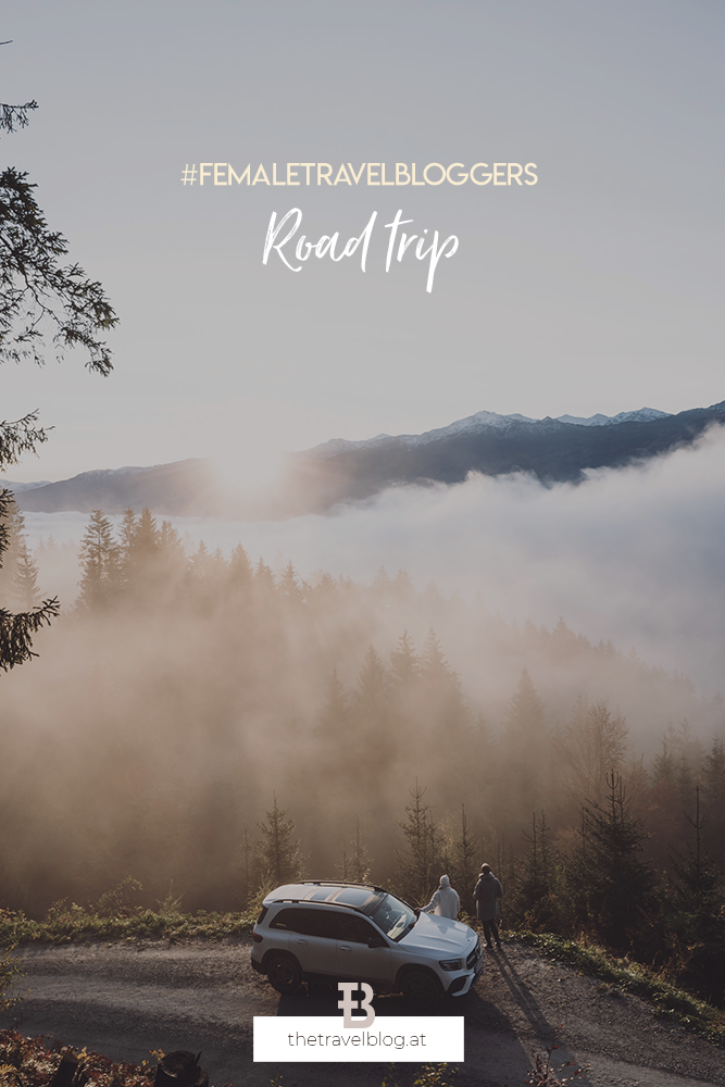 Female travel bloggers road trip through Tyrol with Mercedes