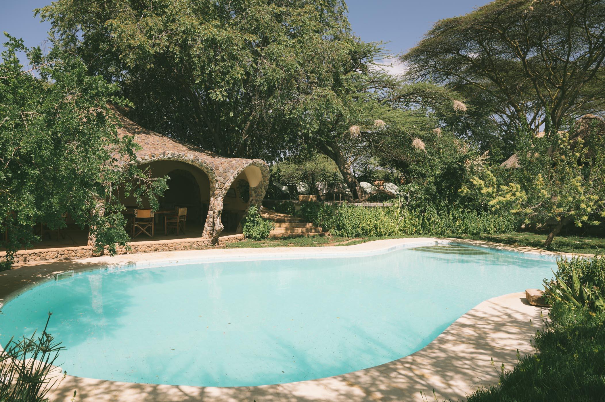 Pool at Lewa House at Lewa Wildlife Conservancy Kenya