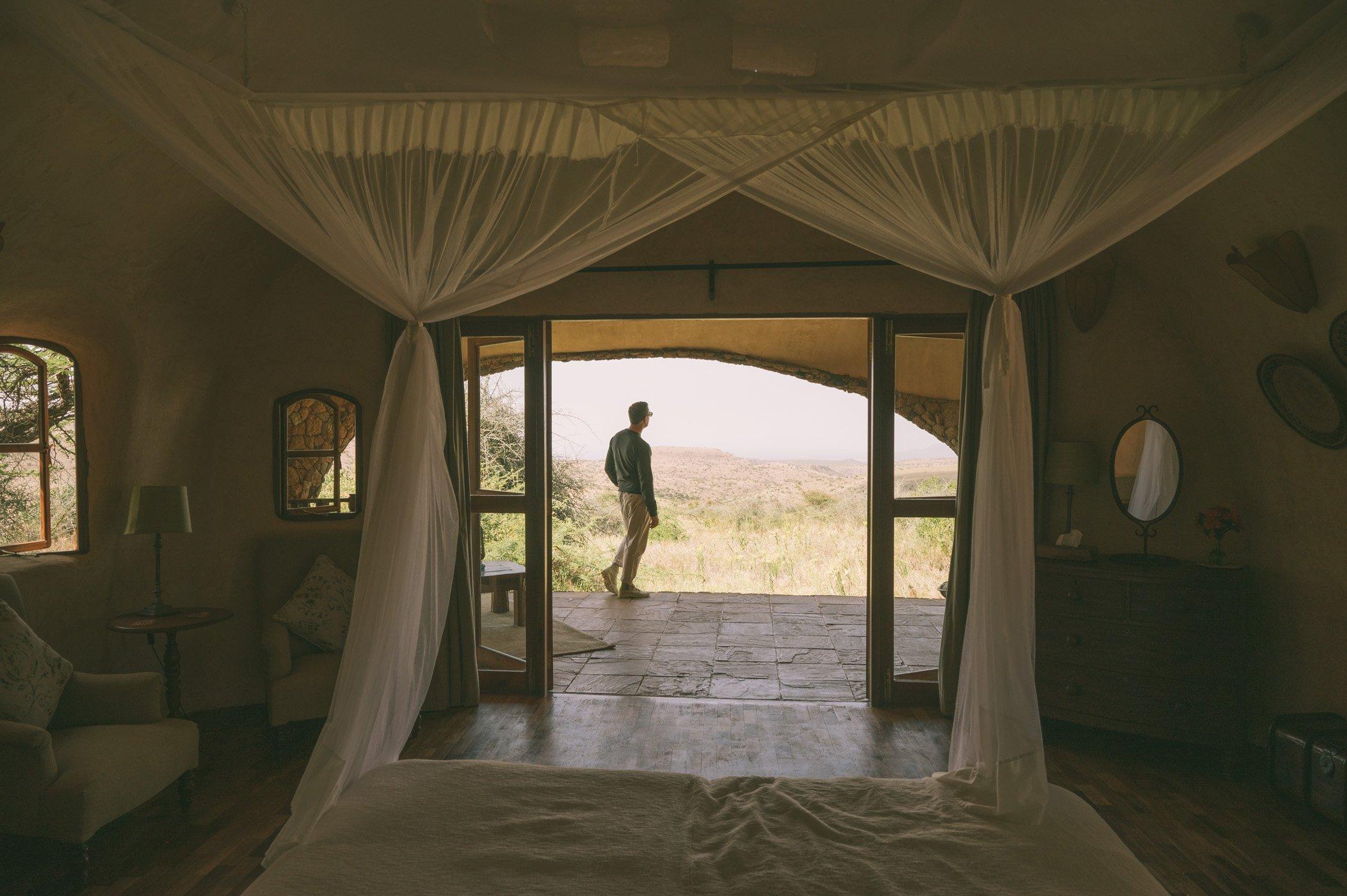 Terrace views at Lewa House at Lewa Wildlife Conservancy Kenya