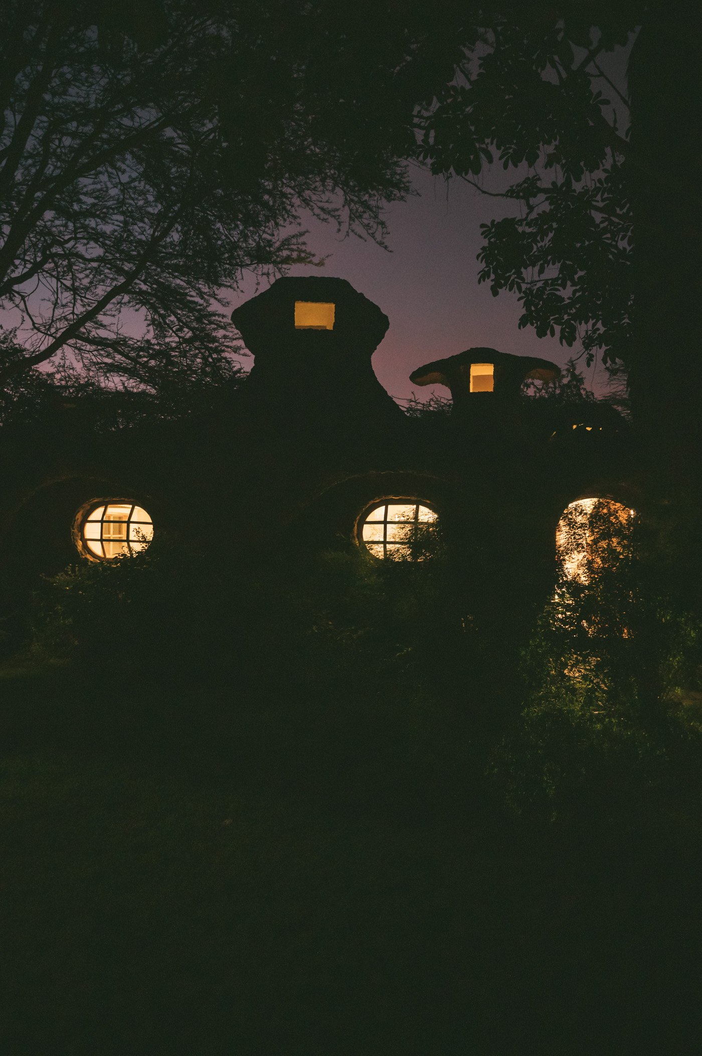 Lewa House at dusk - located inside Lewa Wildlife Conservancy Kenya