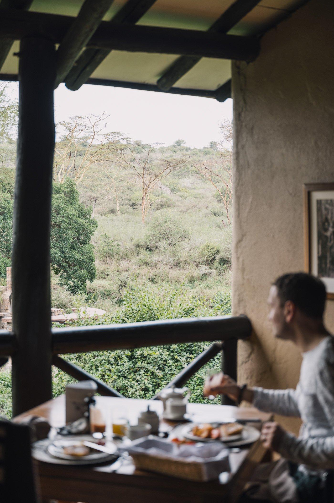 Breakfast at The Emakoko lodge Nairobi