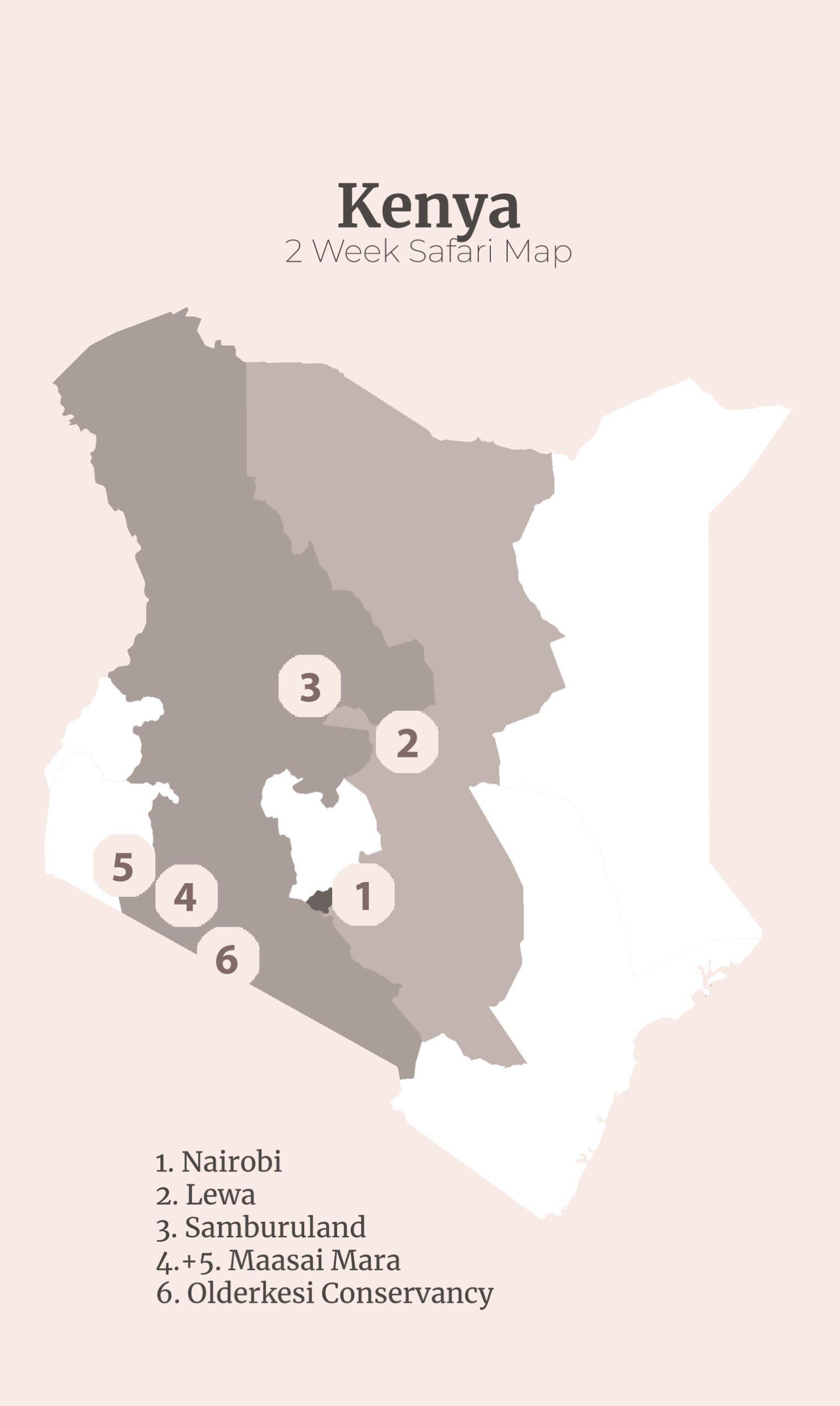 2 week Kenya safari itinerary
