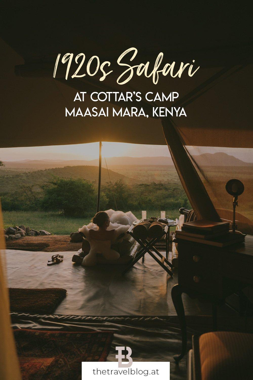 Safari in 1920s style at Cottar's in Kenya
