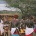 Samburu warriors at a manyatta at Ol Malo Lodge Samburuland Laikipia Plateau Kenya