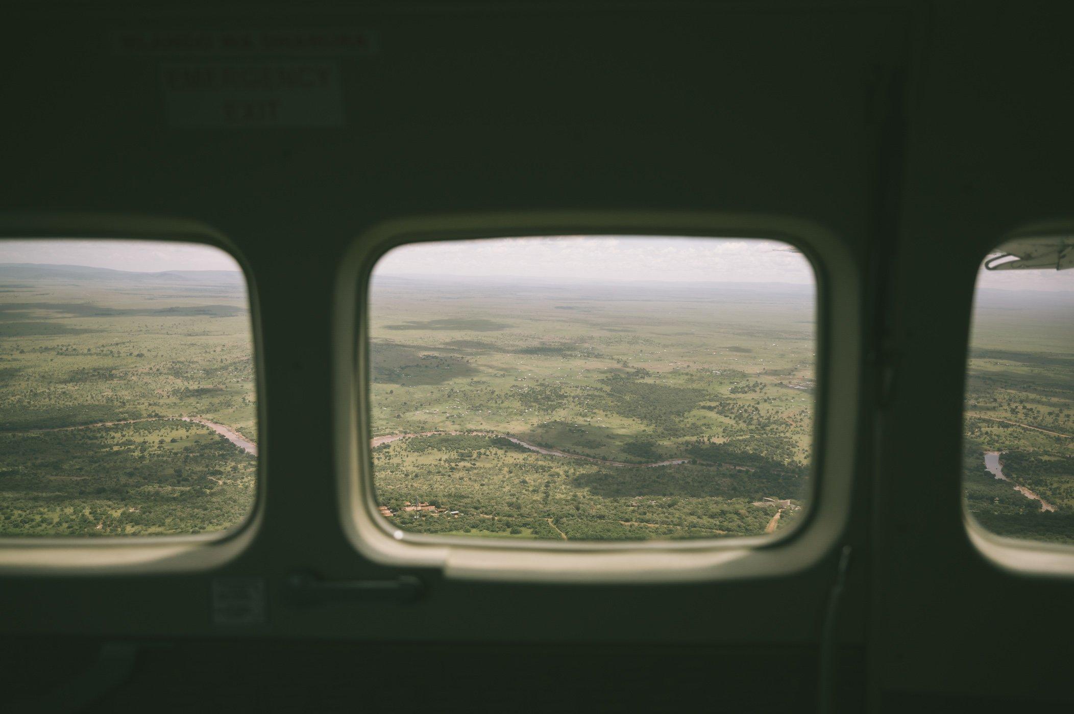 Arriving at the Maasai Mara by bush plane
