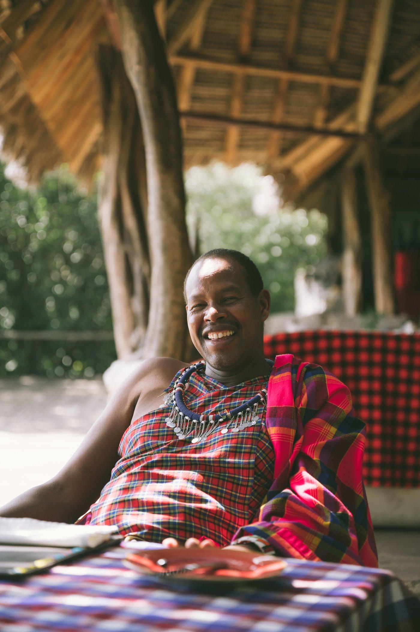 Jackson Looseyia of the Tangulia Mara Camp in the Maasai Mara in Kenya