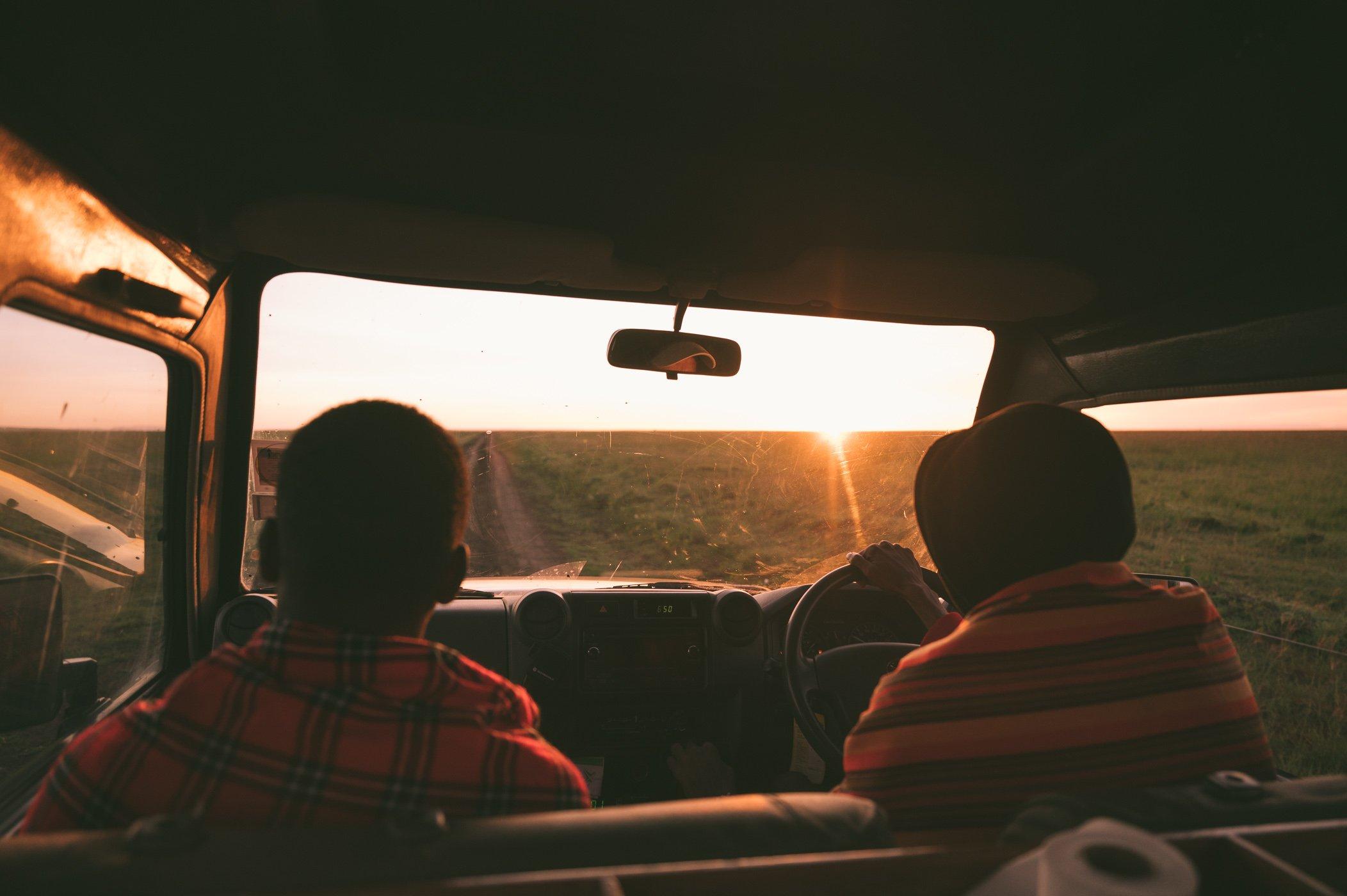 Early morning game drive in the Maasai Mara in Kenya