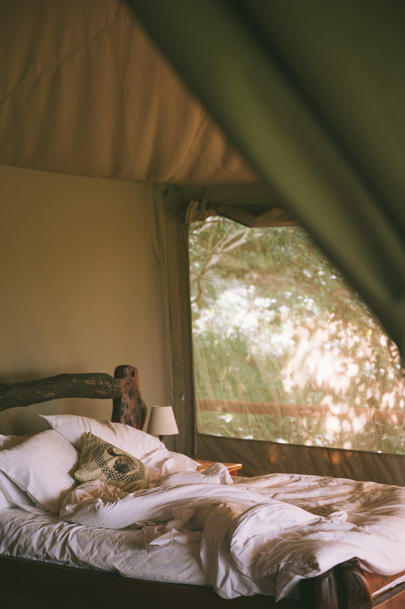 Rooms at Tangulia Mara Camp in the Maasai Mara in Kenya