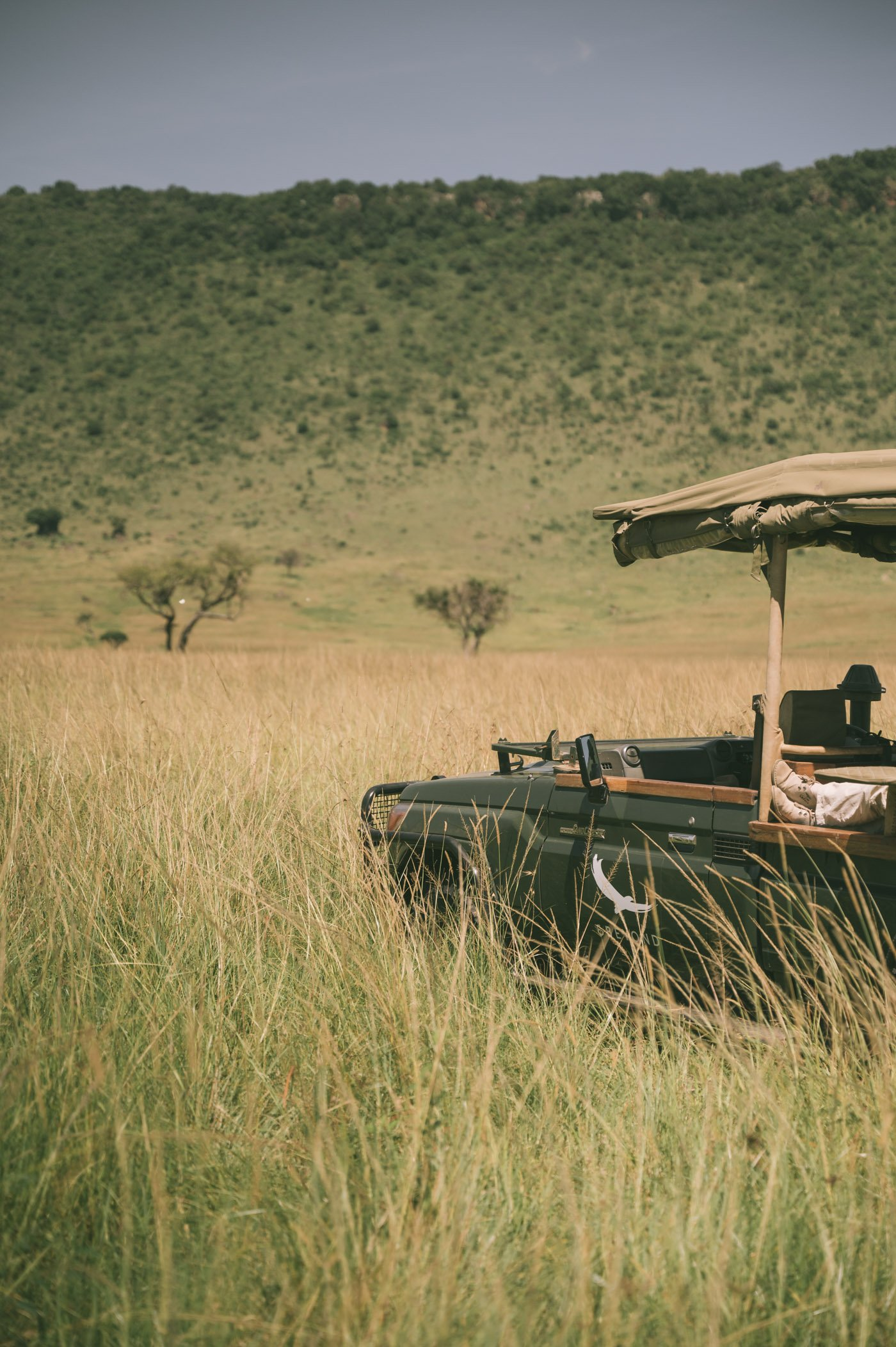 Safari vehicle andBeyond Bateleur Camp Maasai Mara Kenya