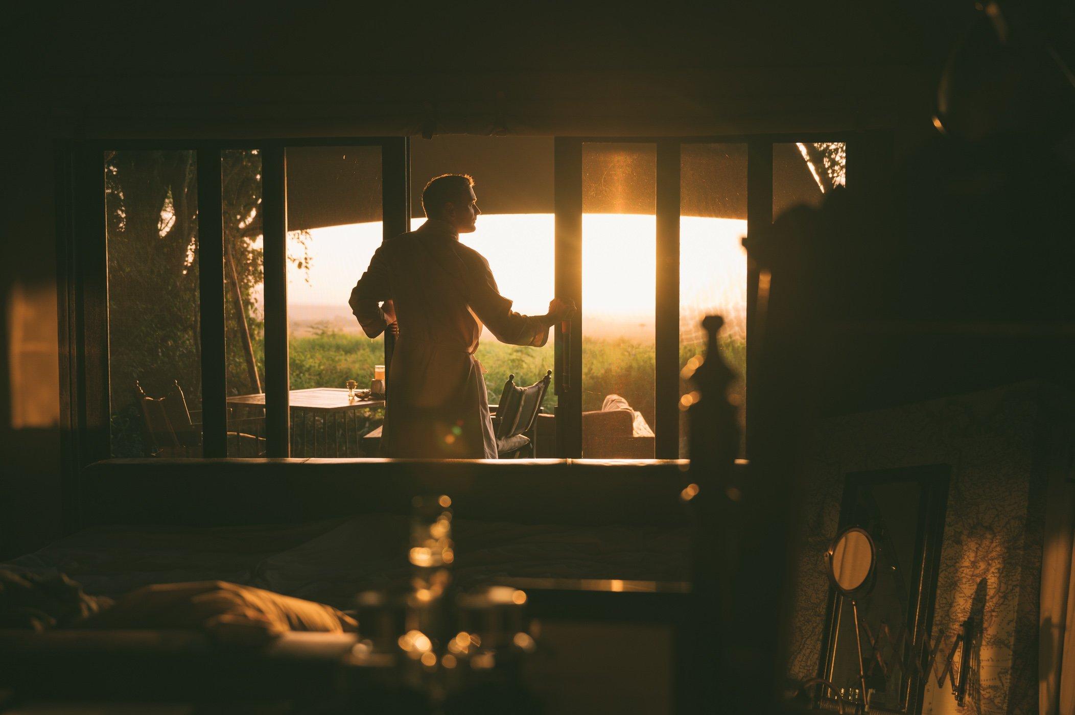 Waking up with a view at andBeyond Bateleur Camp Maasai Mara Kenya