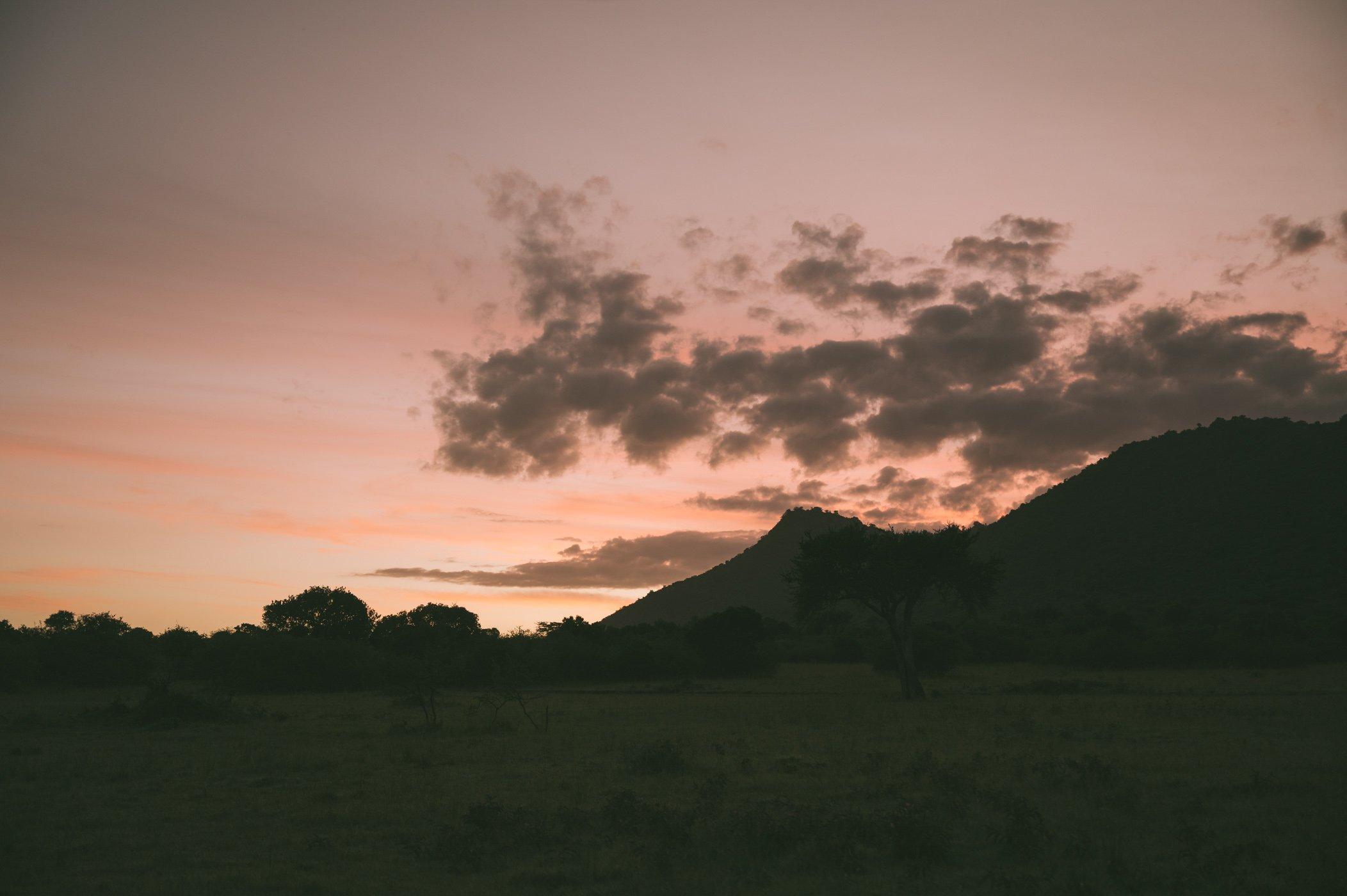 Sunset at Cottar's in Kenya