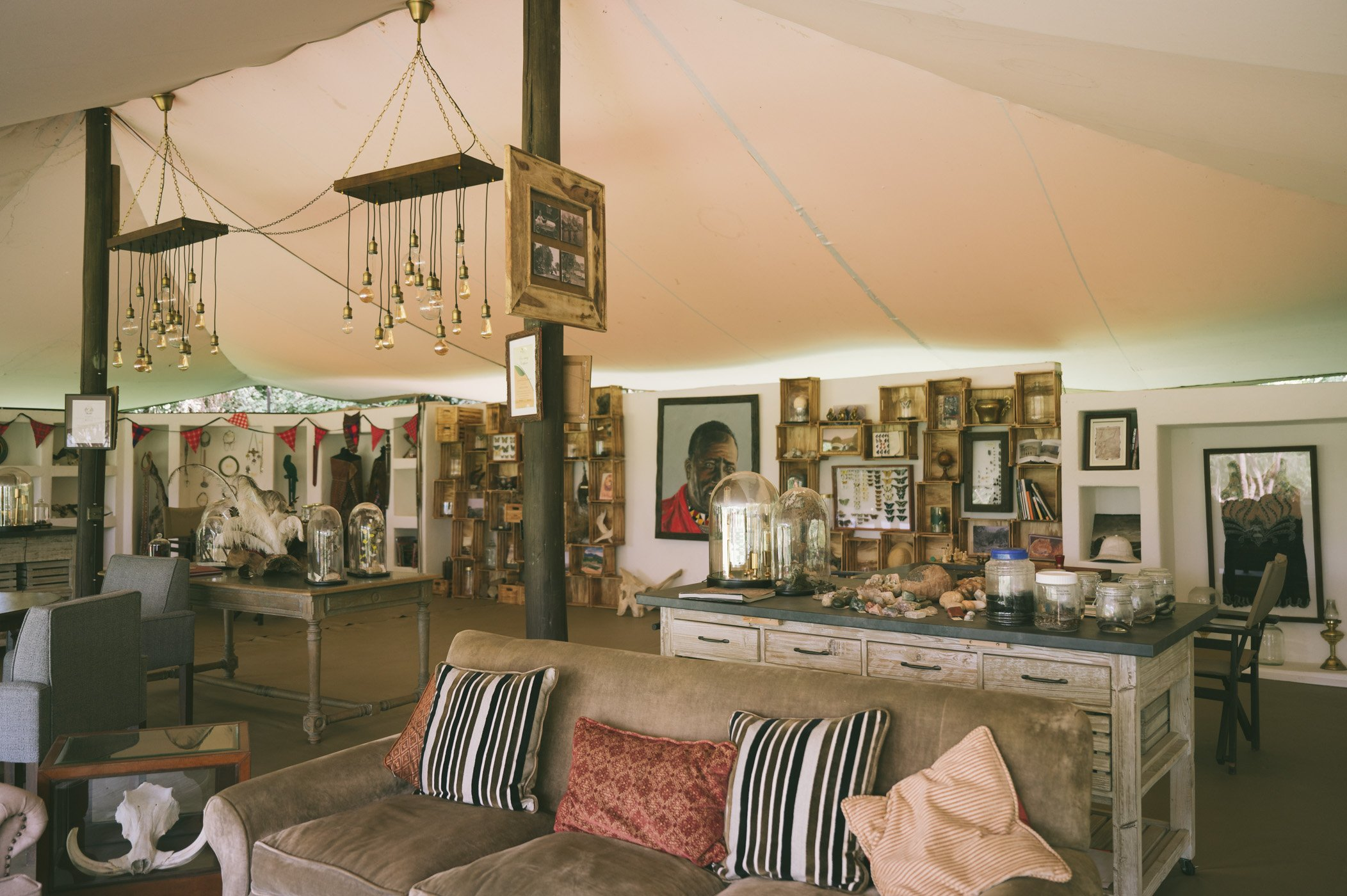 The new Explorer's tent at Cottar's 1920s camp in Kenya