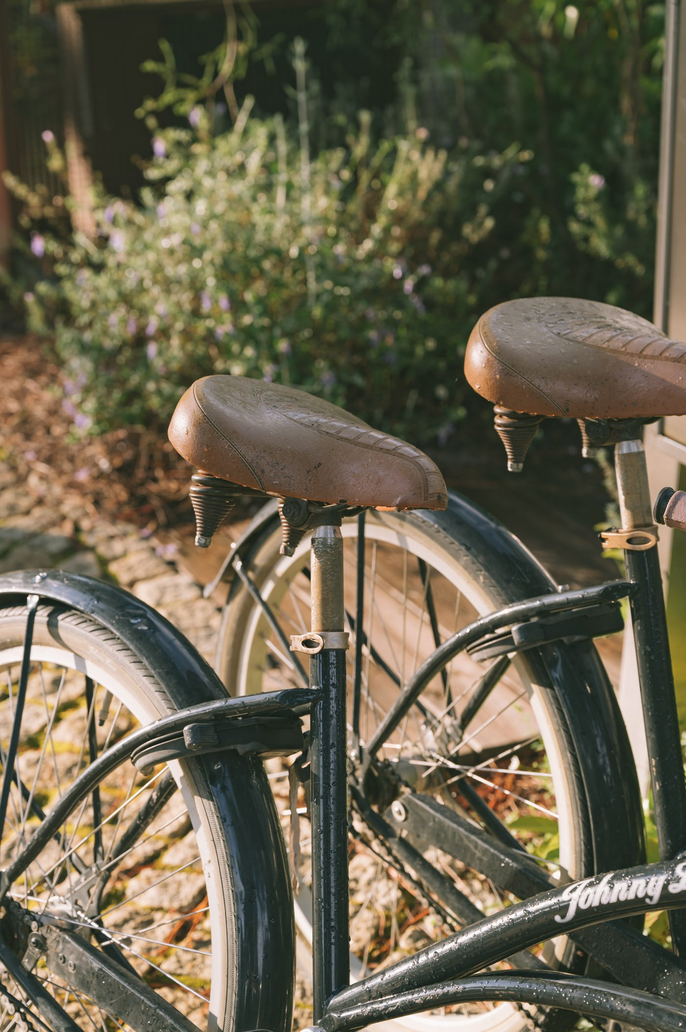 Bikes are available to get from your private villa to the restaurant and reception area.