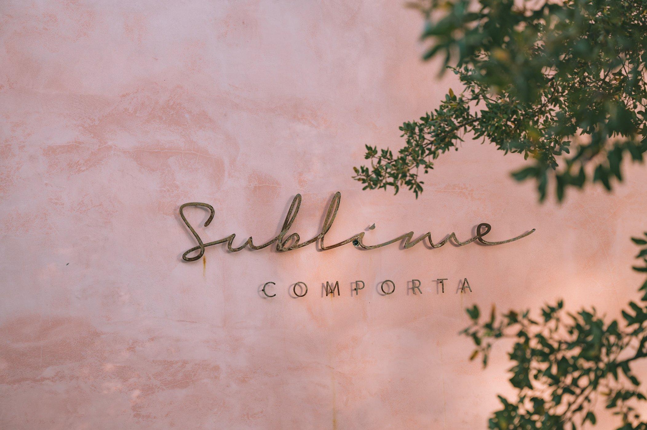Sublime Comporta sign