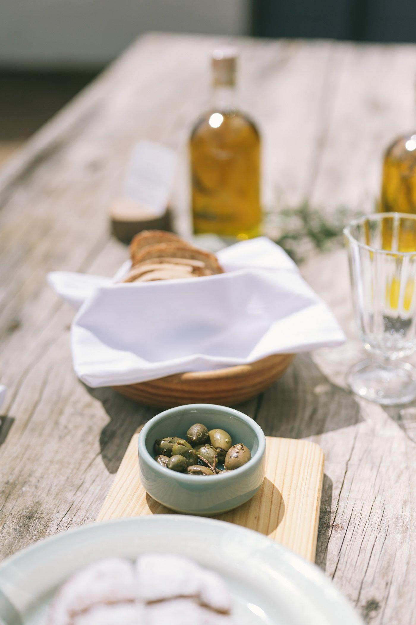 Olive oil tasting at São Lourenço do Barrocal in Alentejo Portugal