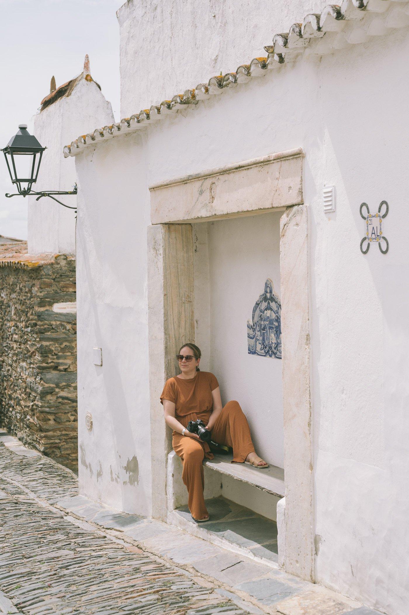 The whitewashed village of Monsaraz in Alentejo Portugal